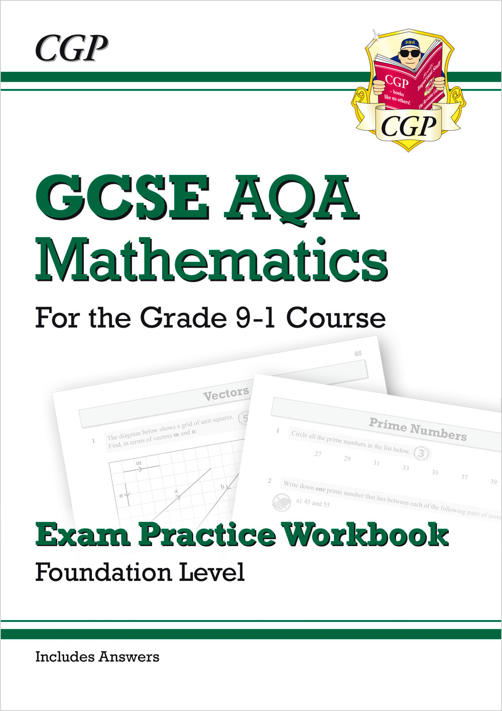 MQFQ42 - GCSE Maths AQA Exam Practice Workbook: Foundation - for the Grade 9-1 Course (includes Answ