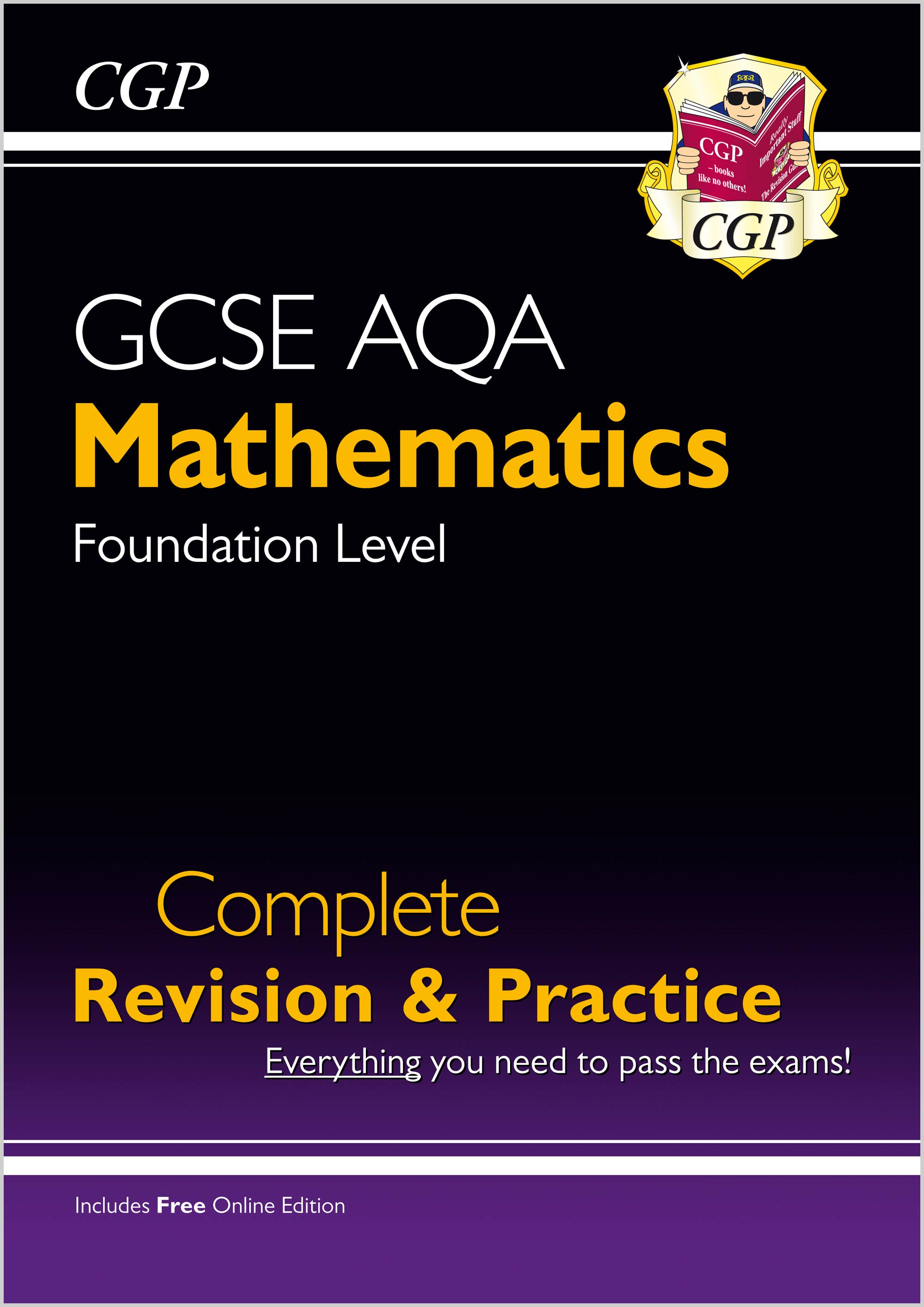 MQFS41 - New GCSE Maths AQA Complete Revision & Practice: Foundation - Grade 9-1 Course (with Online