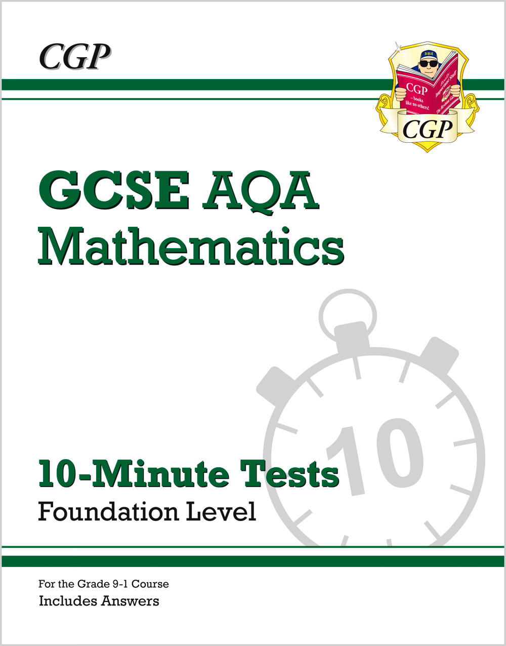 MQFXP41 - New Grade 9-1 GCSE Maths AQA 10-Minute Tests - Foundation (includes Answers)