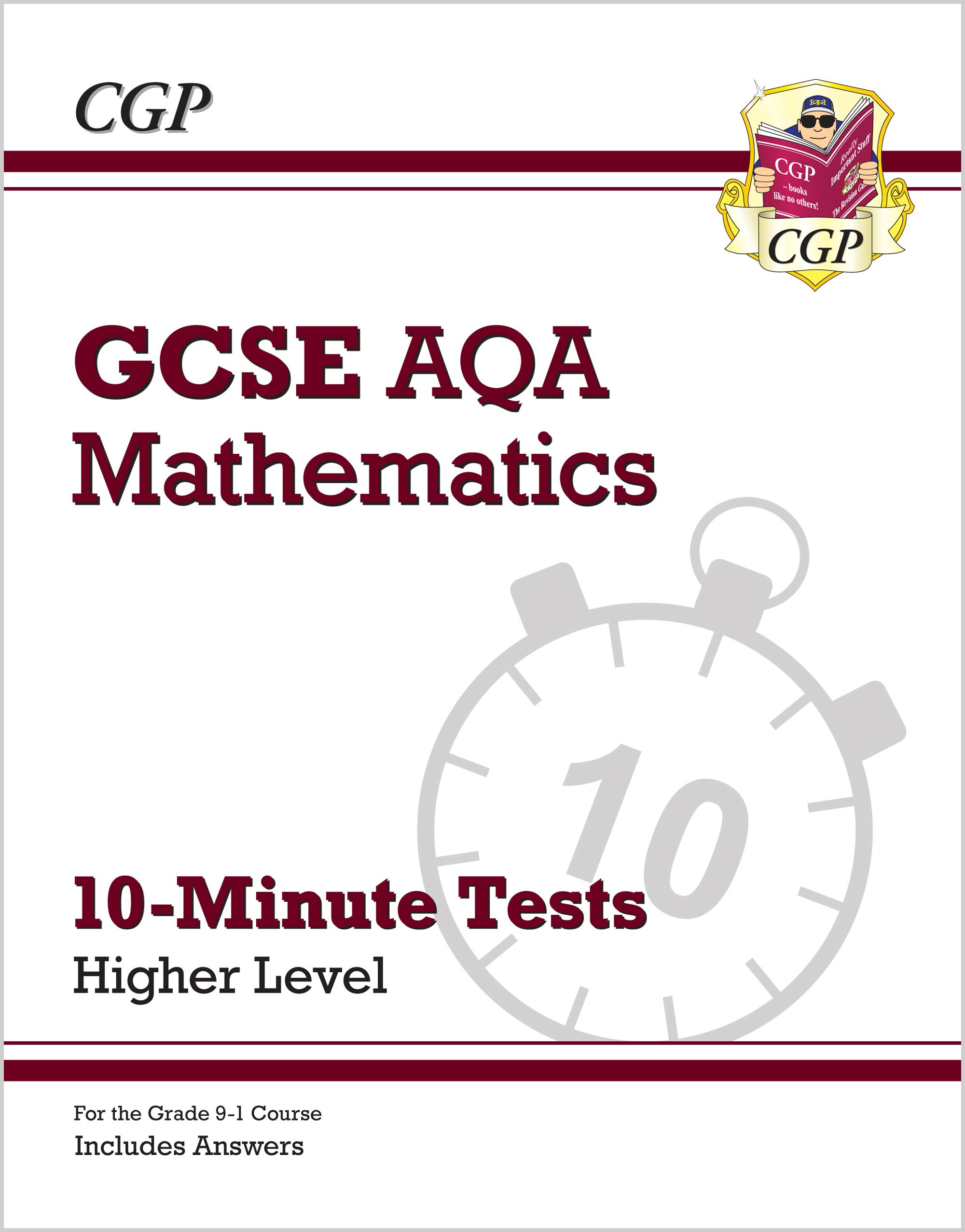 MQHXP41 - Grade 9-1 GCSE Maths AQA 10-Minute Tests - Higher (includes Answers)