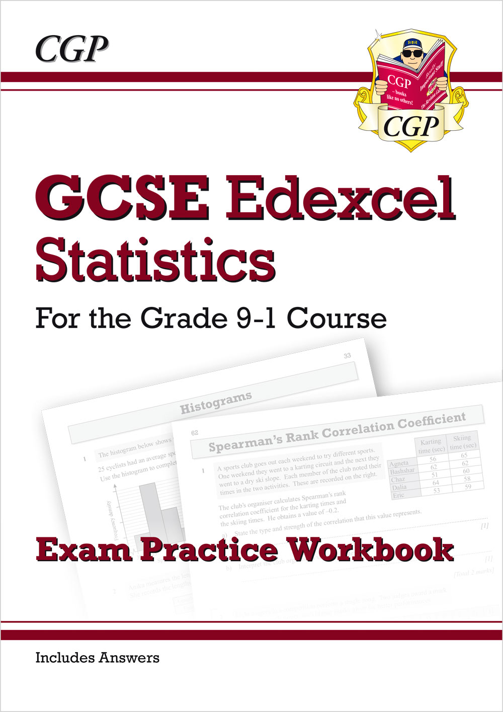 MSXQ41 - GCSE Statistics Edexcel Exam Practice Workbook - for the Grade 9-1 Course (includes Answers