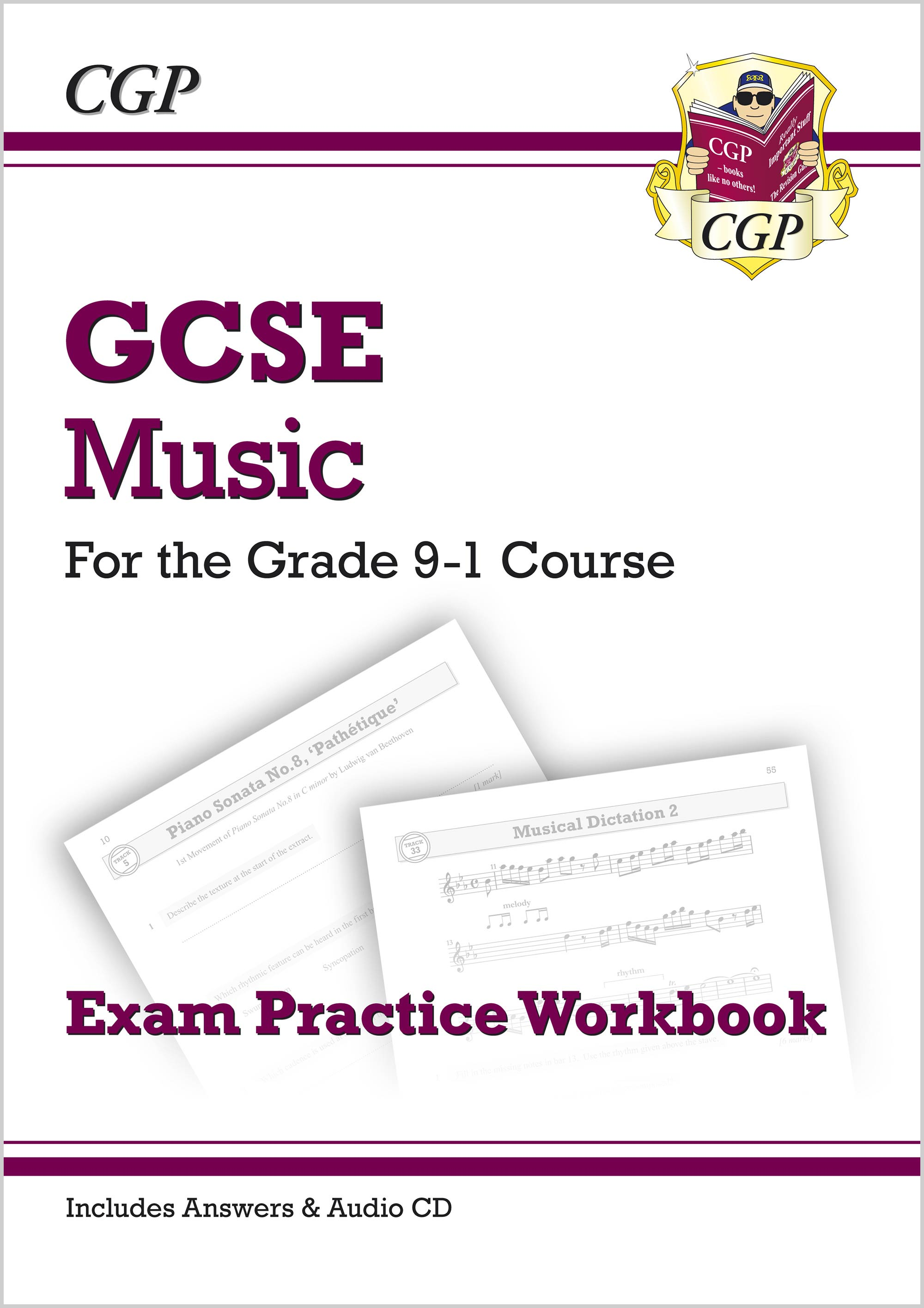 MUQ41 - New GCSE Music Exam Practice Workbook - for the Grade 9-1 Course (with Audio CD & Answers)