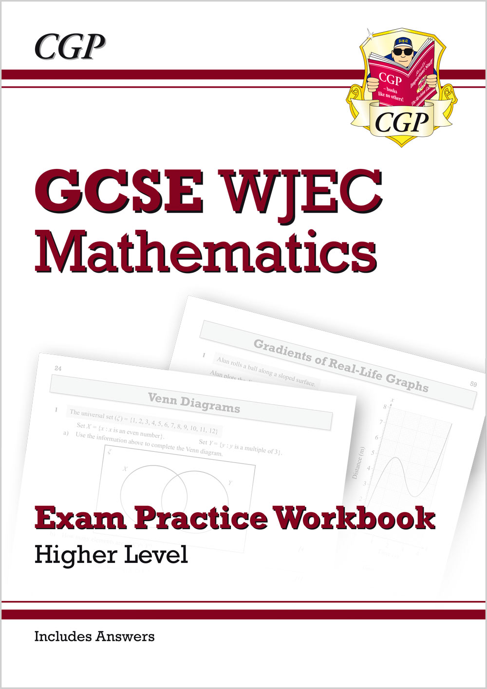 MWHQ41 - WJEC GCSE Maths Exam Practice Workbook: Higher (includes Answers)
