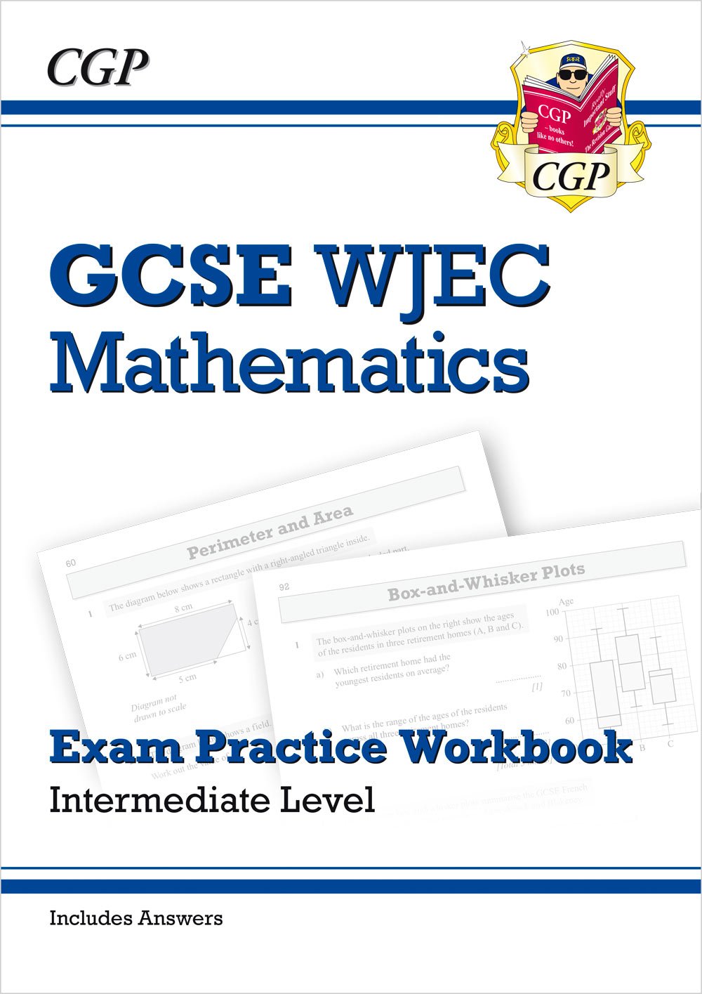 MWIQ41 - New WJEC GCSE Maths Exam Practice Workbook: Intermediate (includes Answers)