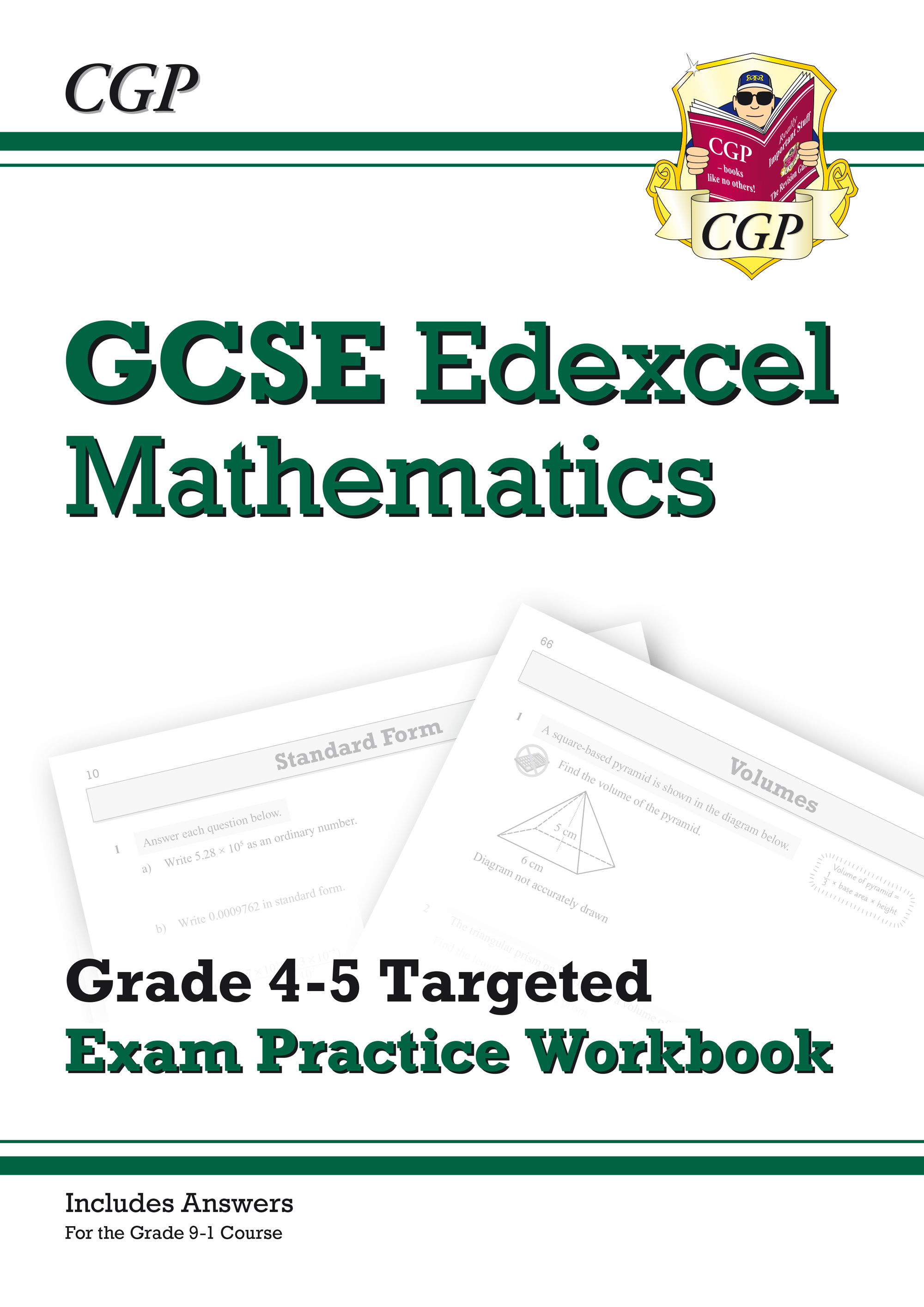 MX5Q41 - GCSE Maths Edexcel Grade 4-5 Targeted Exam Practice Workbook (includes answers)