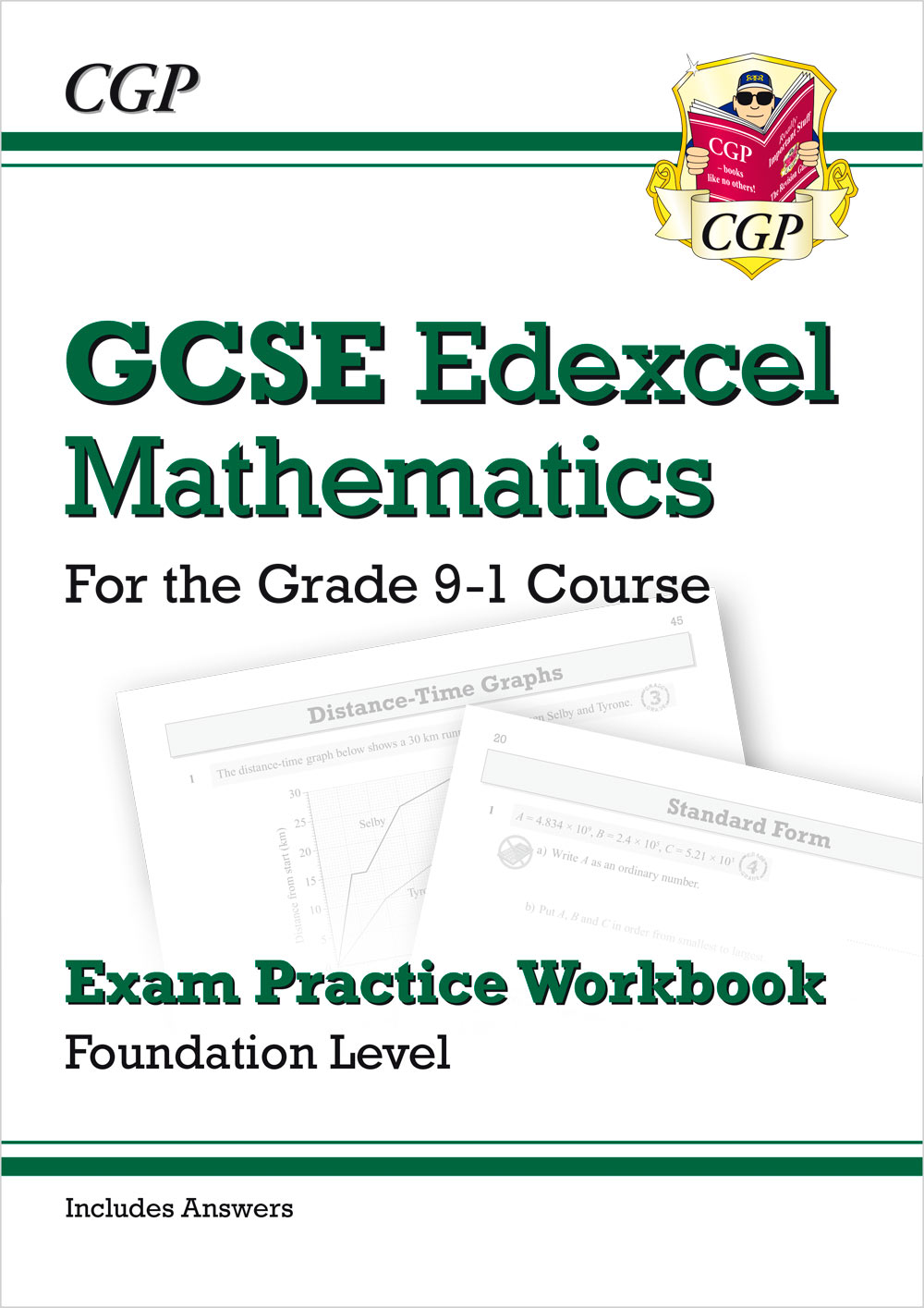 MXFQ42 - GCSE Maths Edexcel Exam Practice Workbook: Foundation - for the Grade 9-1 Course (with Answ