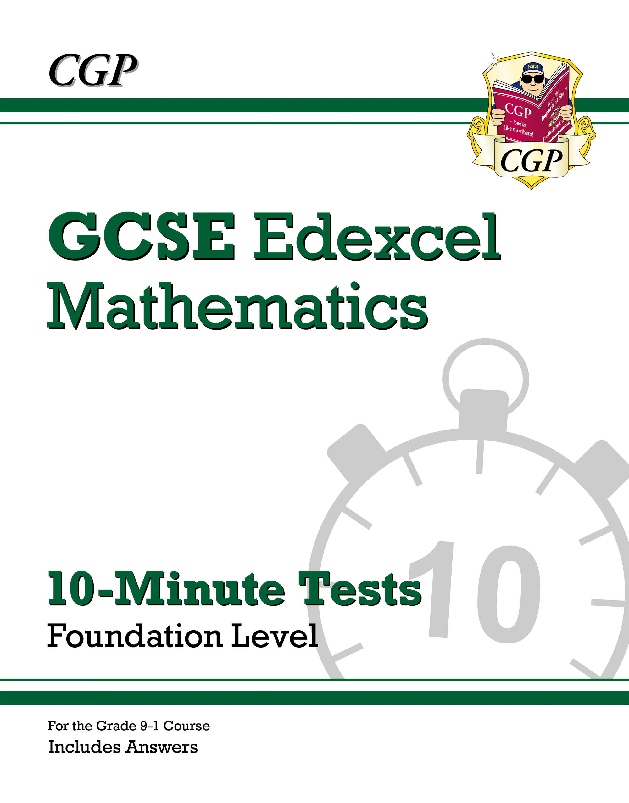 MXFXP41DK - New Grade 9-1 GCSE Maths Edexcel 10-Minute Tests - Foundation (includes Answers)