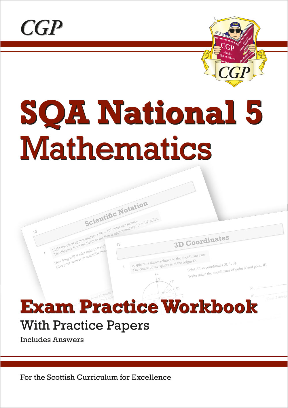 MZHQ41 - National 5 Maths: SQA Exam Practice Workbook - includes Answers