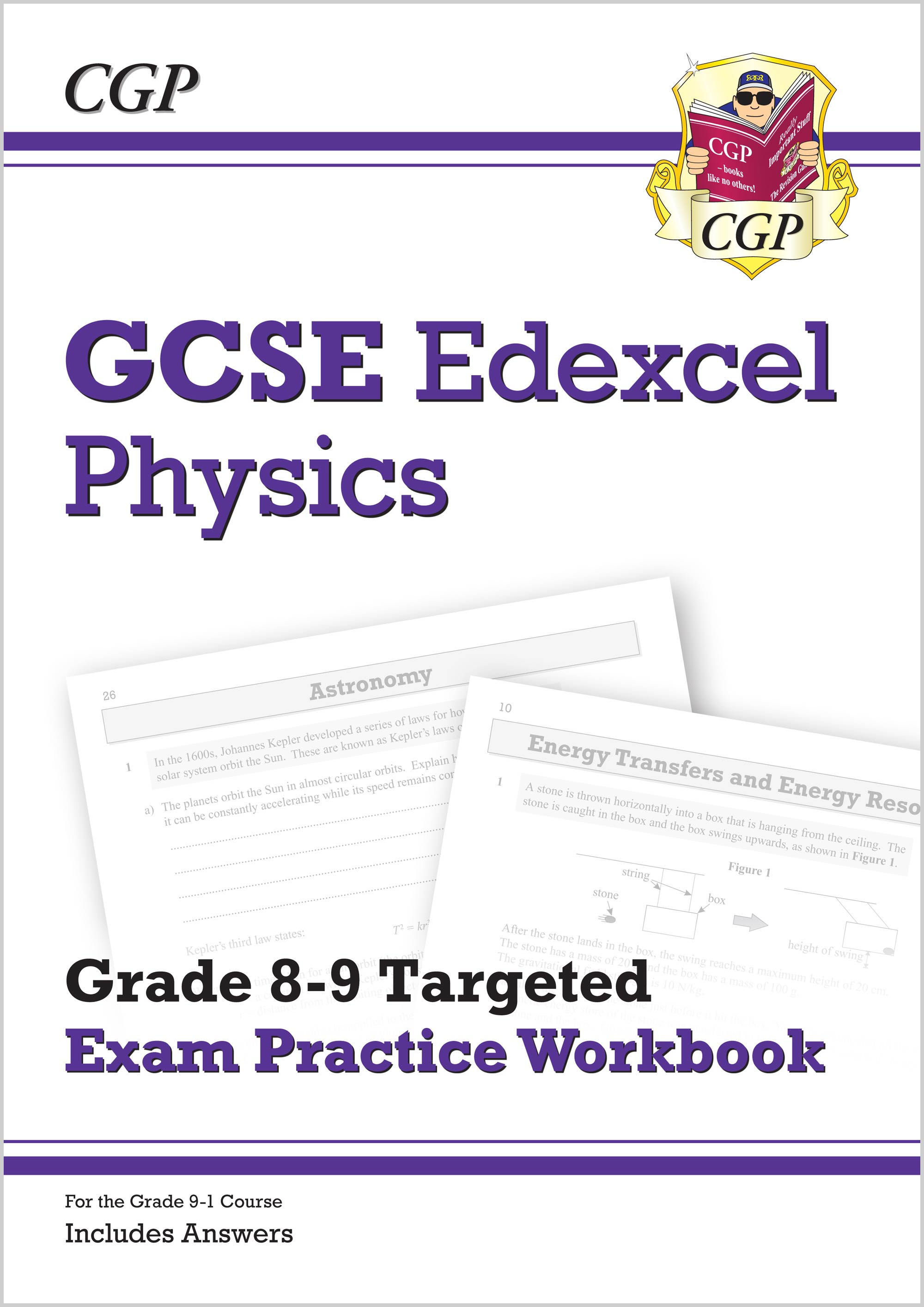 PE9Q41 - GCSE Physics Edexcel Grade 8-9 Targeted Exam Practice Workbook (includes Answers)