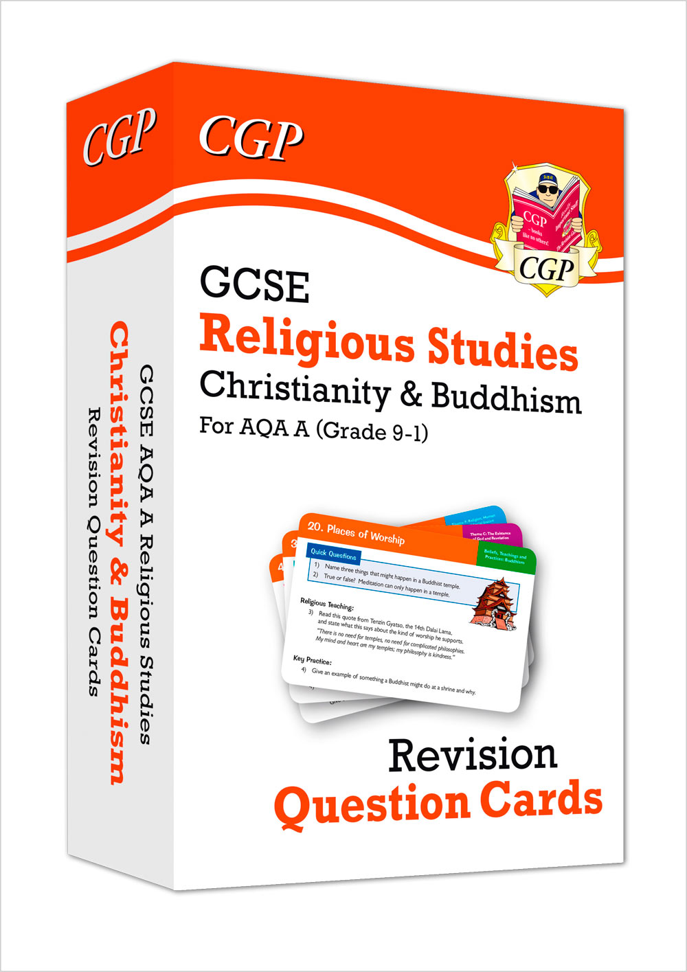 RACBF41 - New 9-1 GCSE AQA A Religious Studies: Christianity & Buddhism Revision Question Cards
