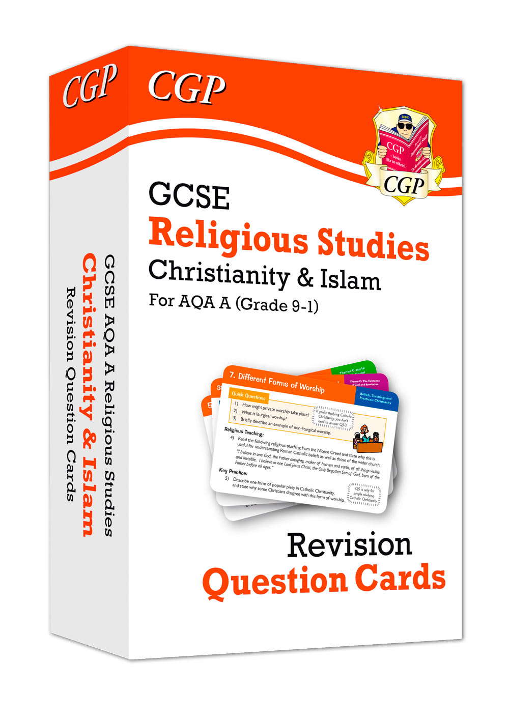 RACIF41 - New 9-1 GCSE AQA A Religious Studies: Christianity & Islam Revision Question Cards