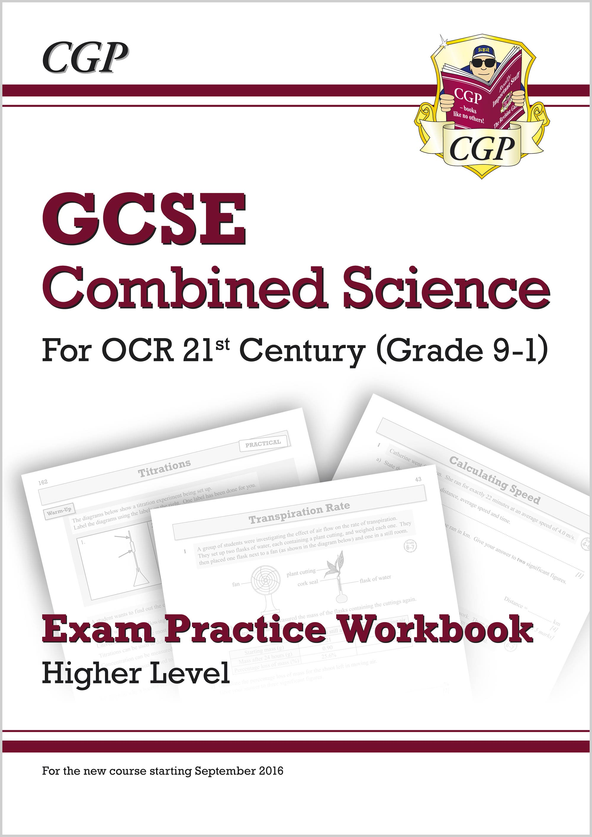 S2HQ41 - New Grade 9-1 GCSE Combined Science: OCR 21st Century Exam Practice Workbook - Higher