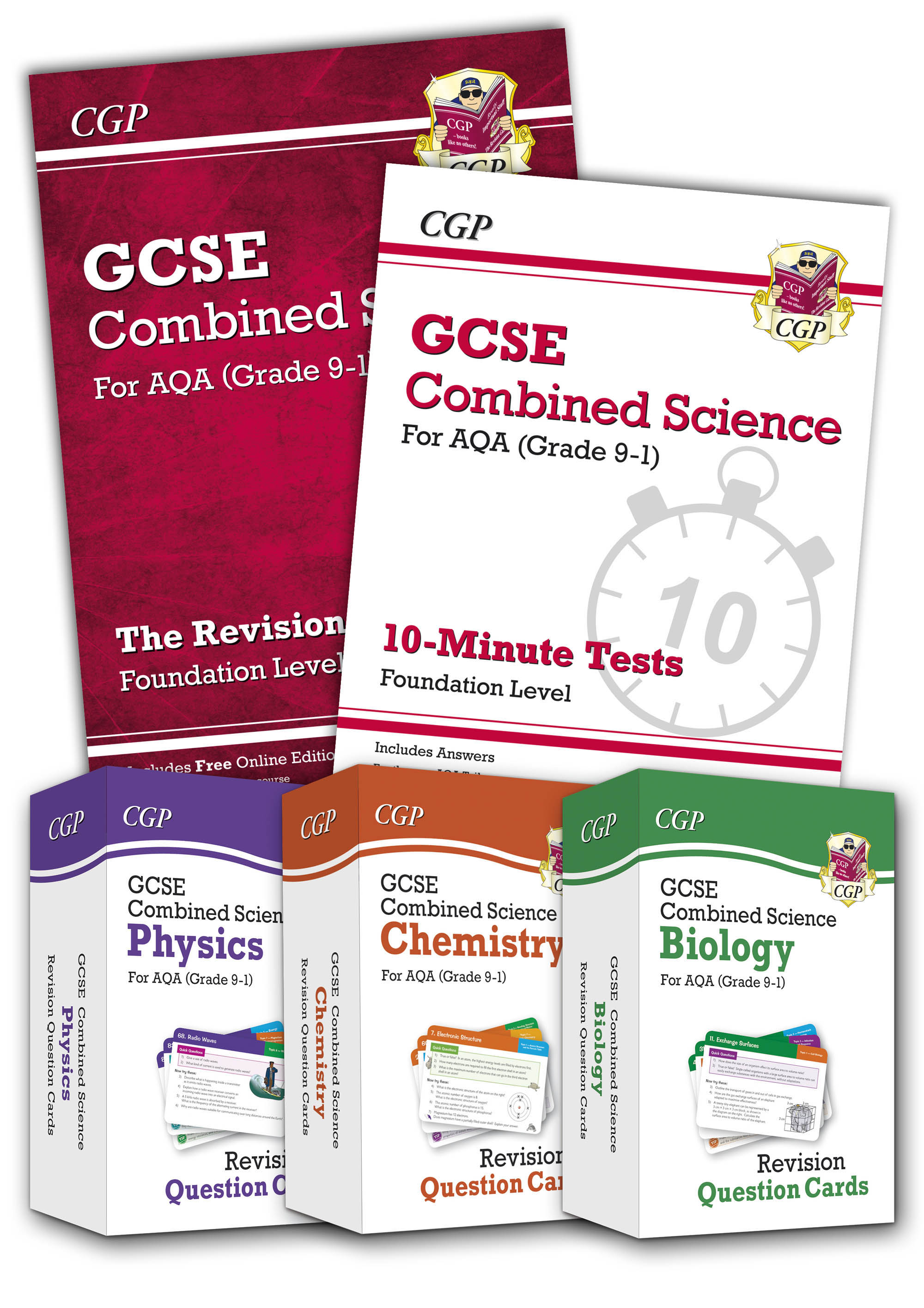 SAFBB41 - Grade 9-1 GCSE Combined Science AQA Money-Saving Bundle - Foundation