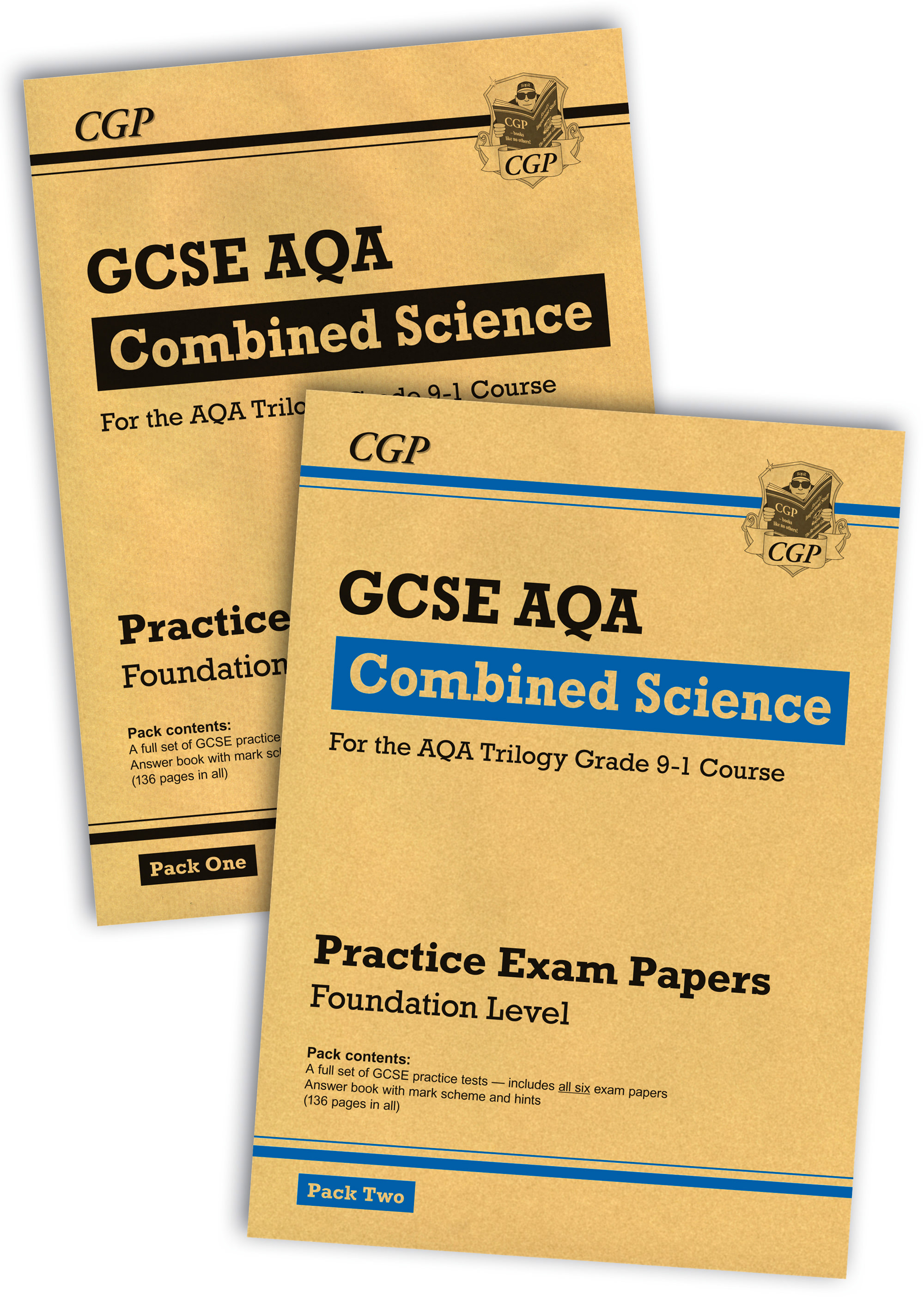 SAFBP41 - New Grade 9-1 GCSE Combined Science AQA Practice Papers: Foundation Pack 1 & 2 Bundle