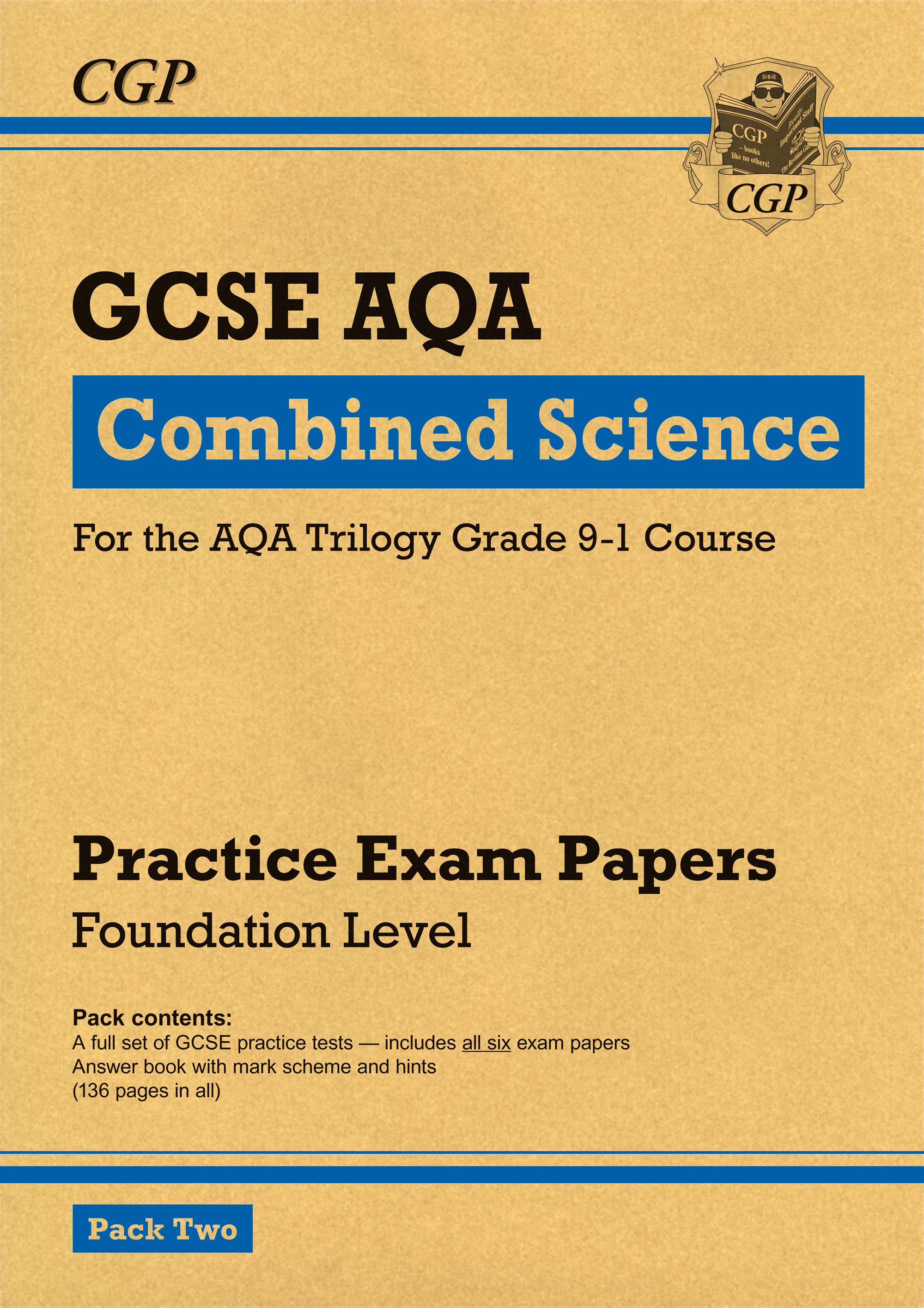 SAFP241 - New Grade 9-1 GCSE Combined Science AQA Practice Papers: Foundation Pack 2