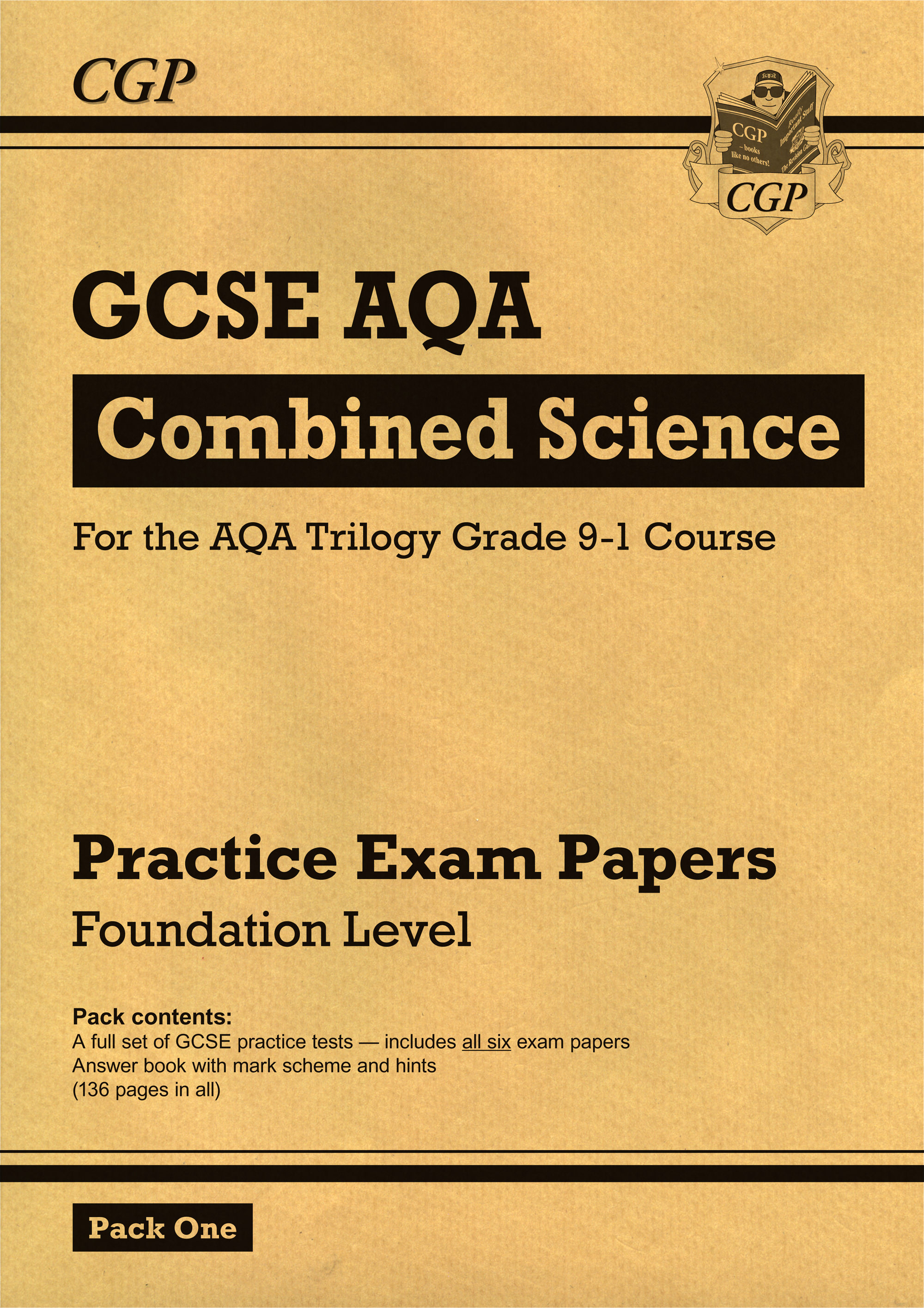 SAFP45 - New Grade 9-1 GCSE Combined Science AQA Practice Papers: Foundation Pack 1