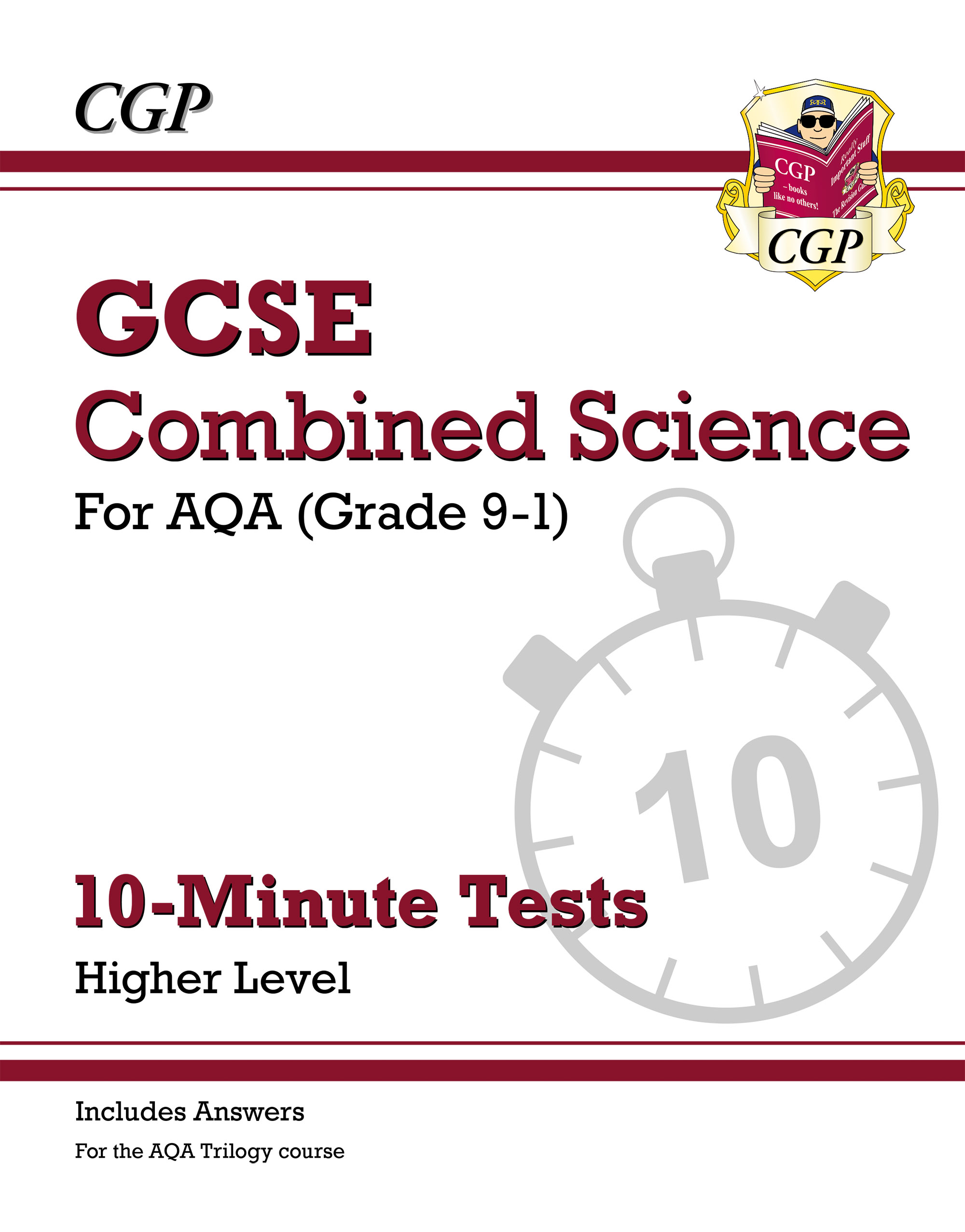 SAHXP41DK - New Grade 9-1 GCSE Combined Science: AQA 10-Minute Tests (with answers) - Higher