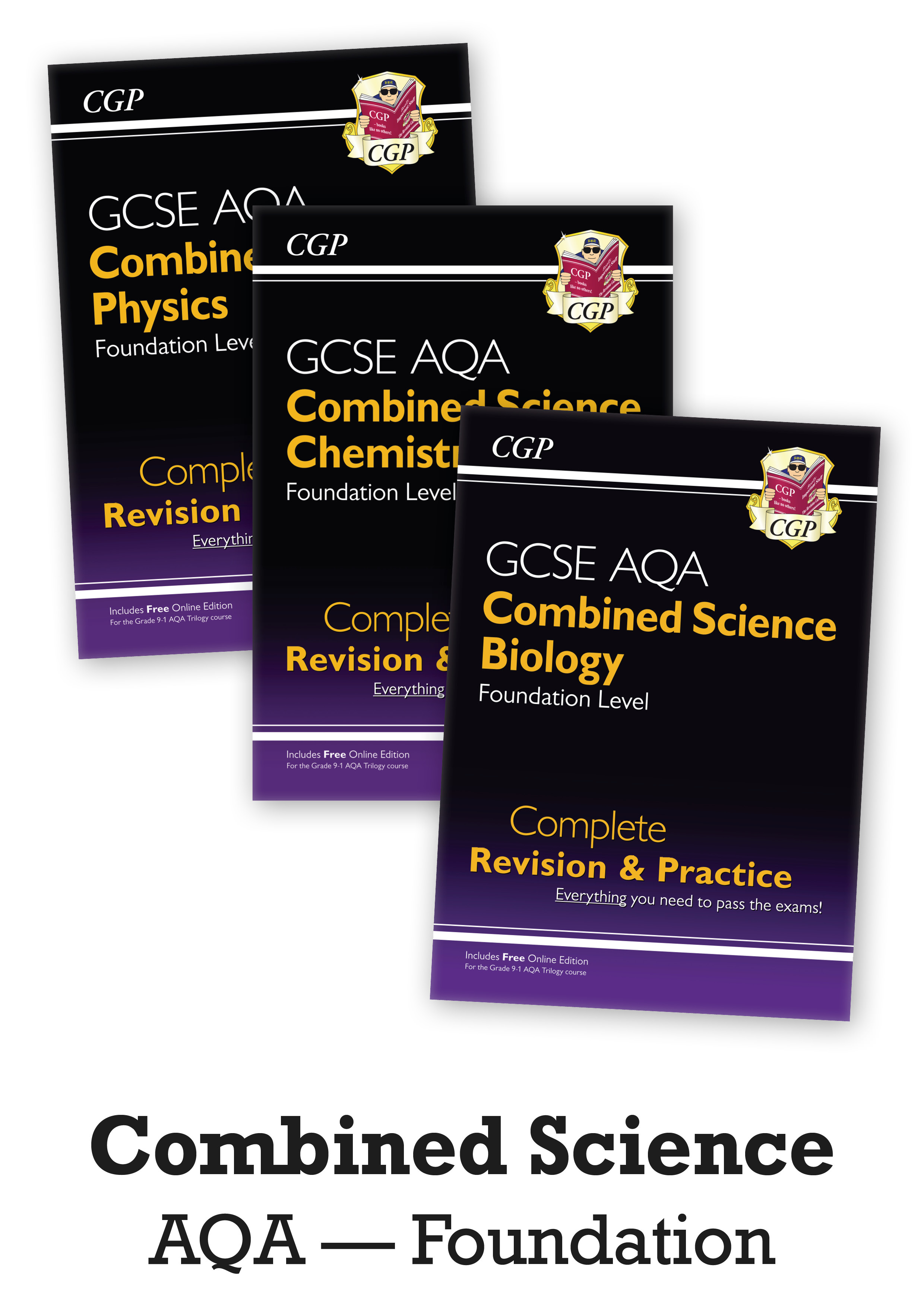 SCAFB41 - GCSE 9-1 Combined Science: AQA Foundation Complete Revision & Practice - 3-book bundle
