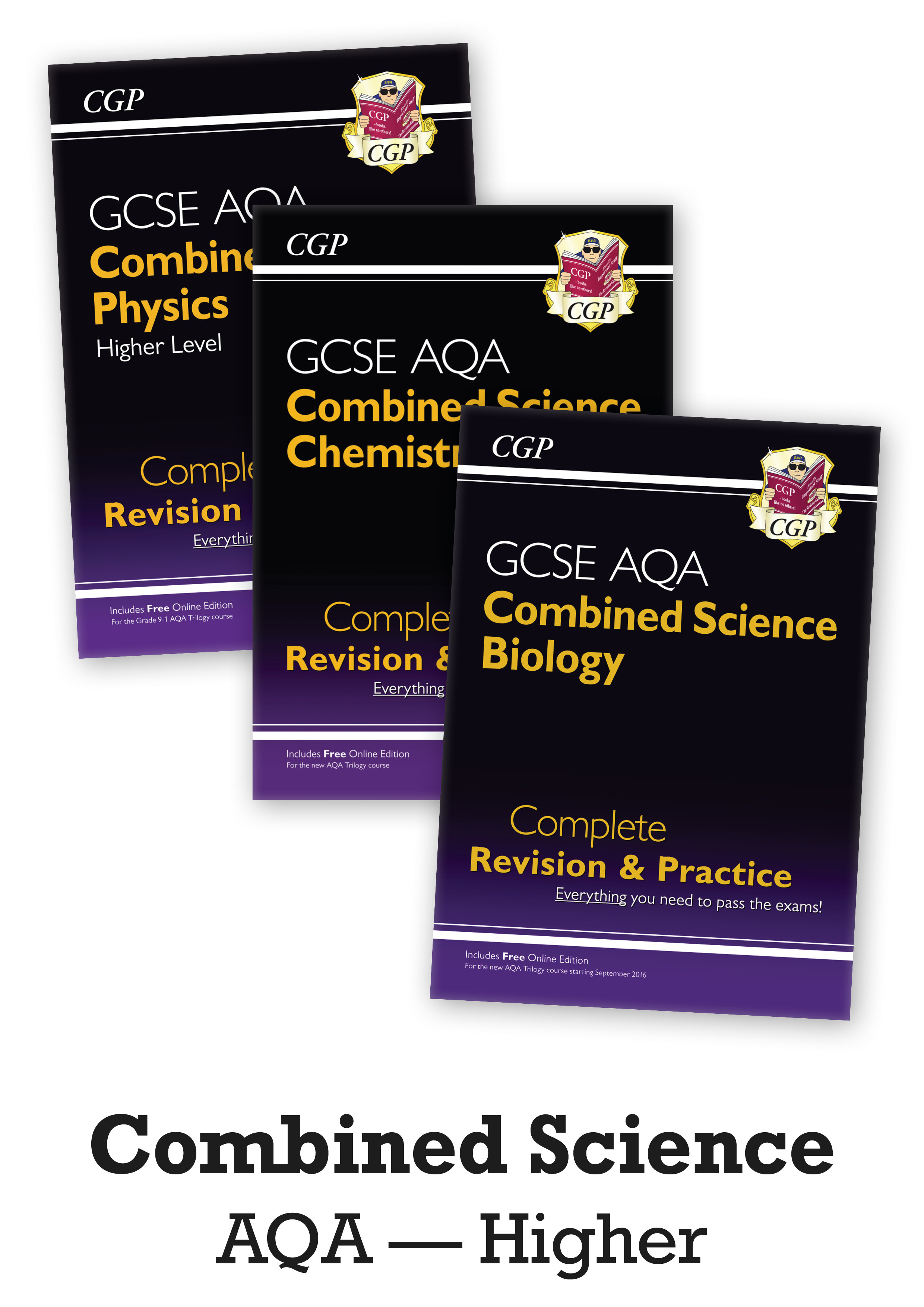SCAHB41 - GCSE 9-1 Combined Science: AQA Higher Complete Revision & Practice - 3-book bundle