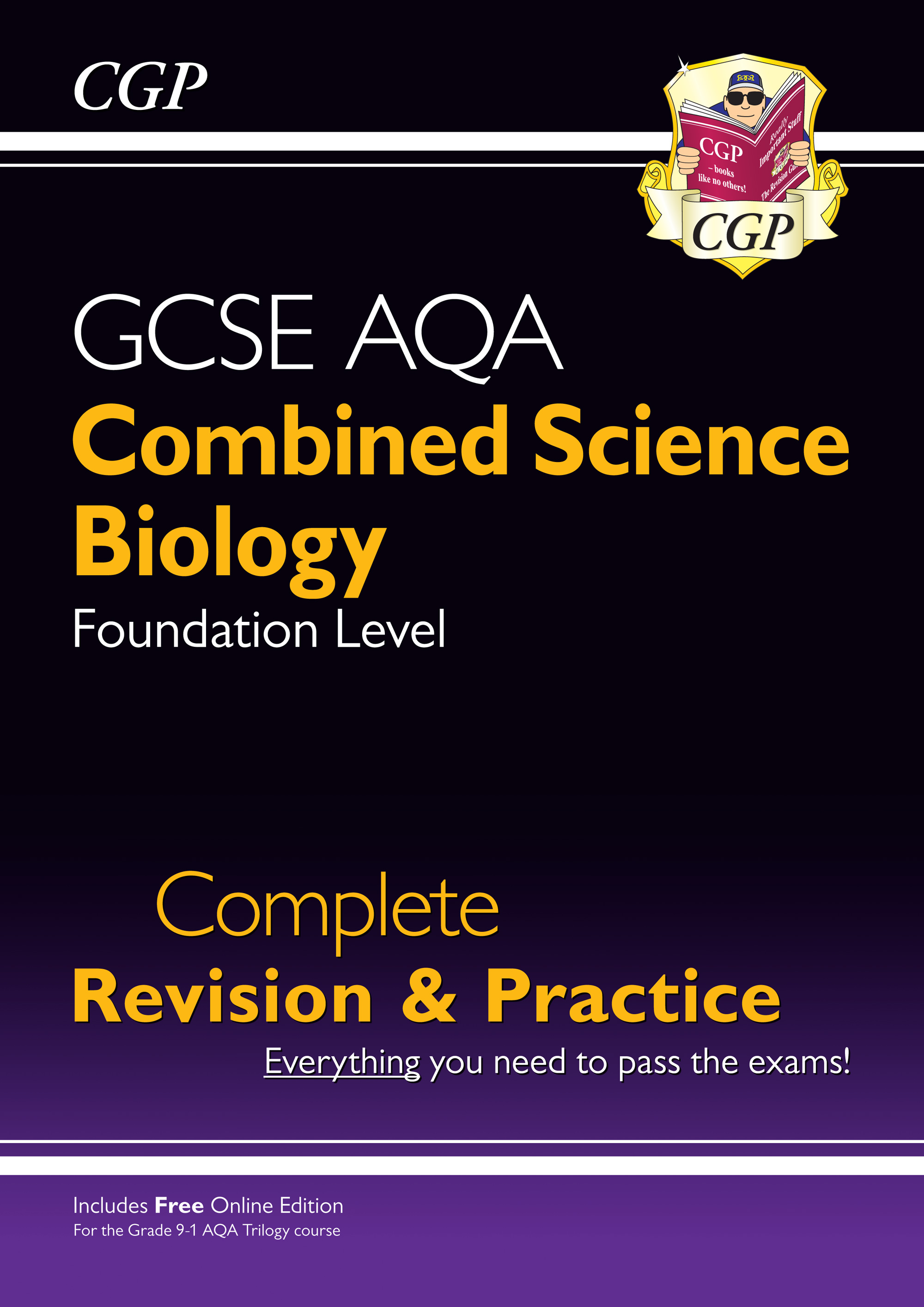 SCBAFS41 - New 9-1 GCSE Combined Science: Biology AQA Foundation Complete Revision & Practice with O