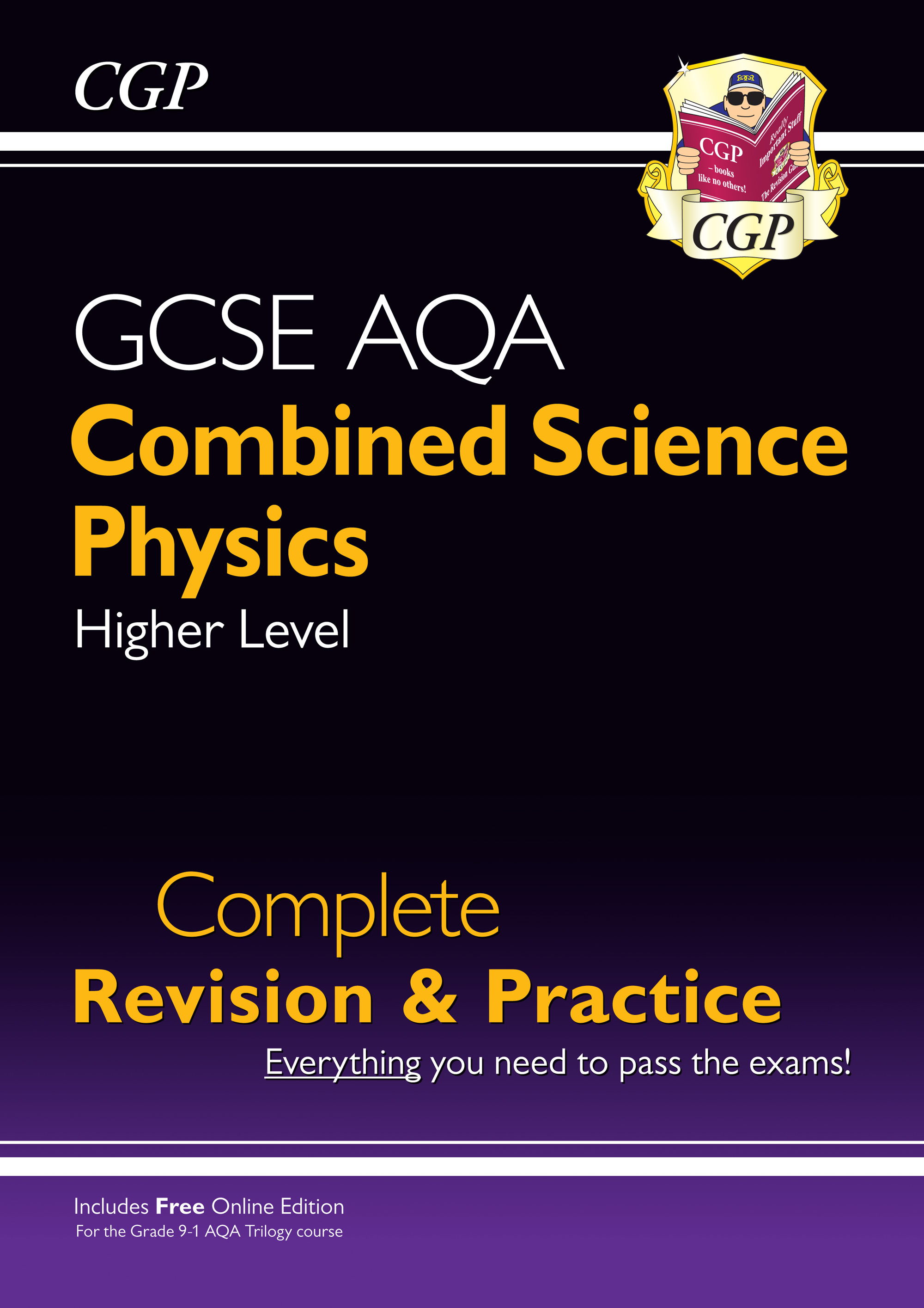 SCPAS41 - New 9-1 GCSE Combined Science: Physics AQA Higher Complete Revision & Practice with Online