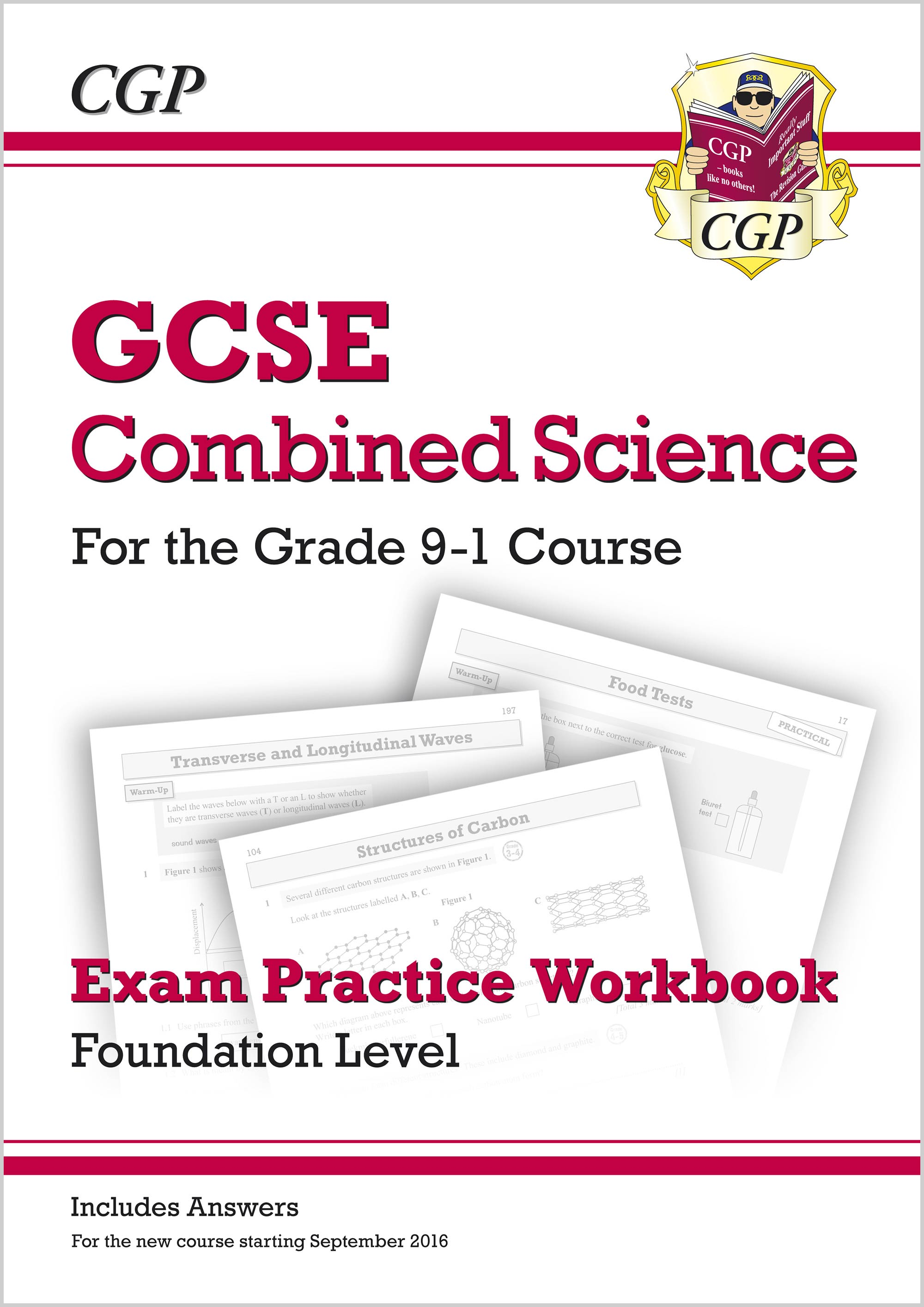 SFQ41B - New Grade 9-1 GCSE Combined Science: Exam Practice Workbook (with answers) - Foundation