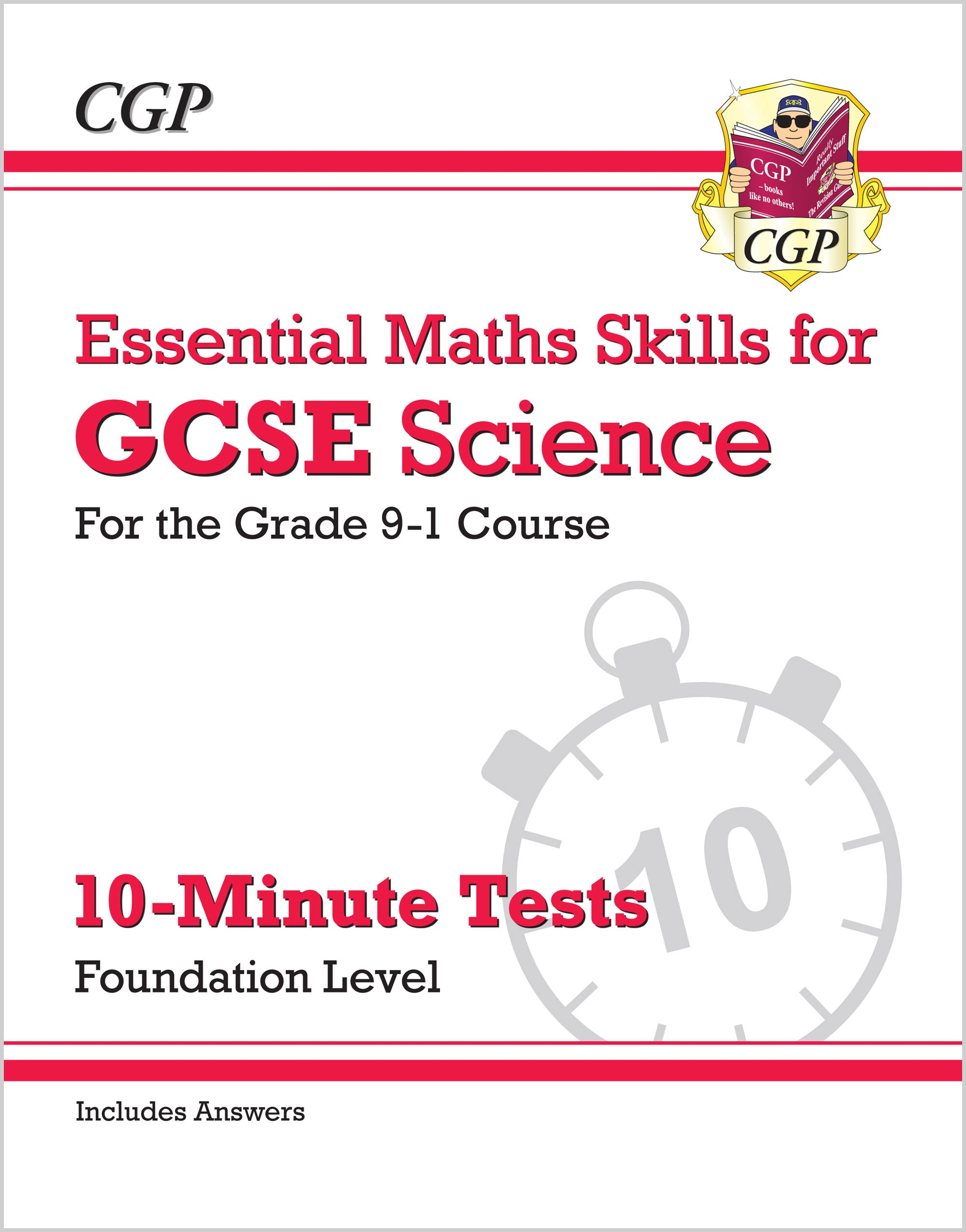 SMFXP41 - New Grade 9-1 GCSE Science: Essential Maths Skills 10-Minute Tests (with answers) - Founda