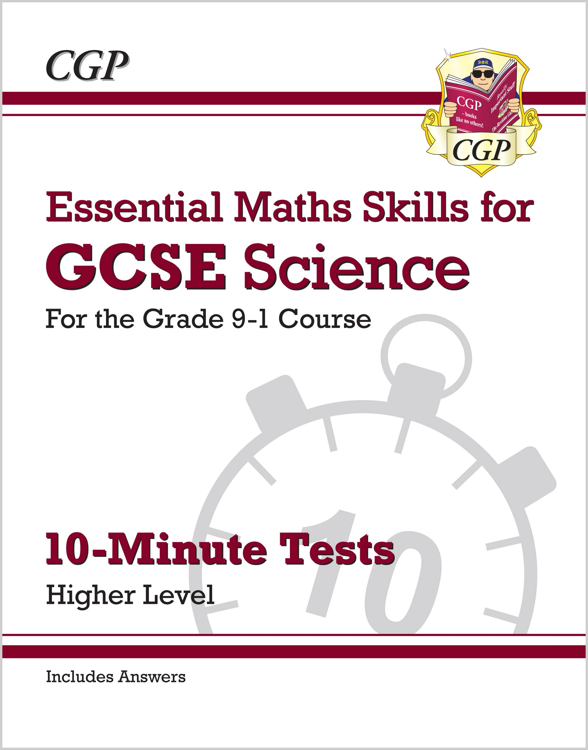 SMHXP41 - Grade 9-1 GCSE Science: Essential Maths Skills 10-Minute Tests (with answers) - Higher