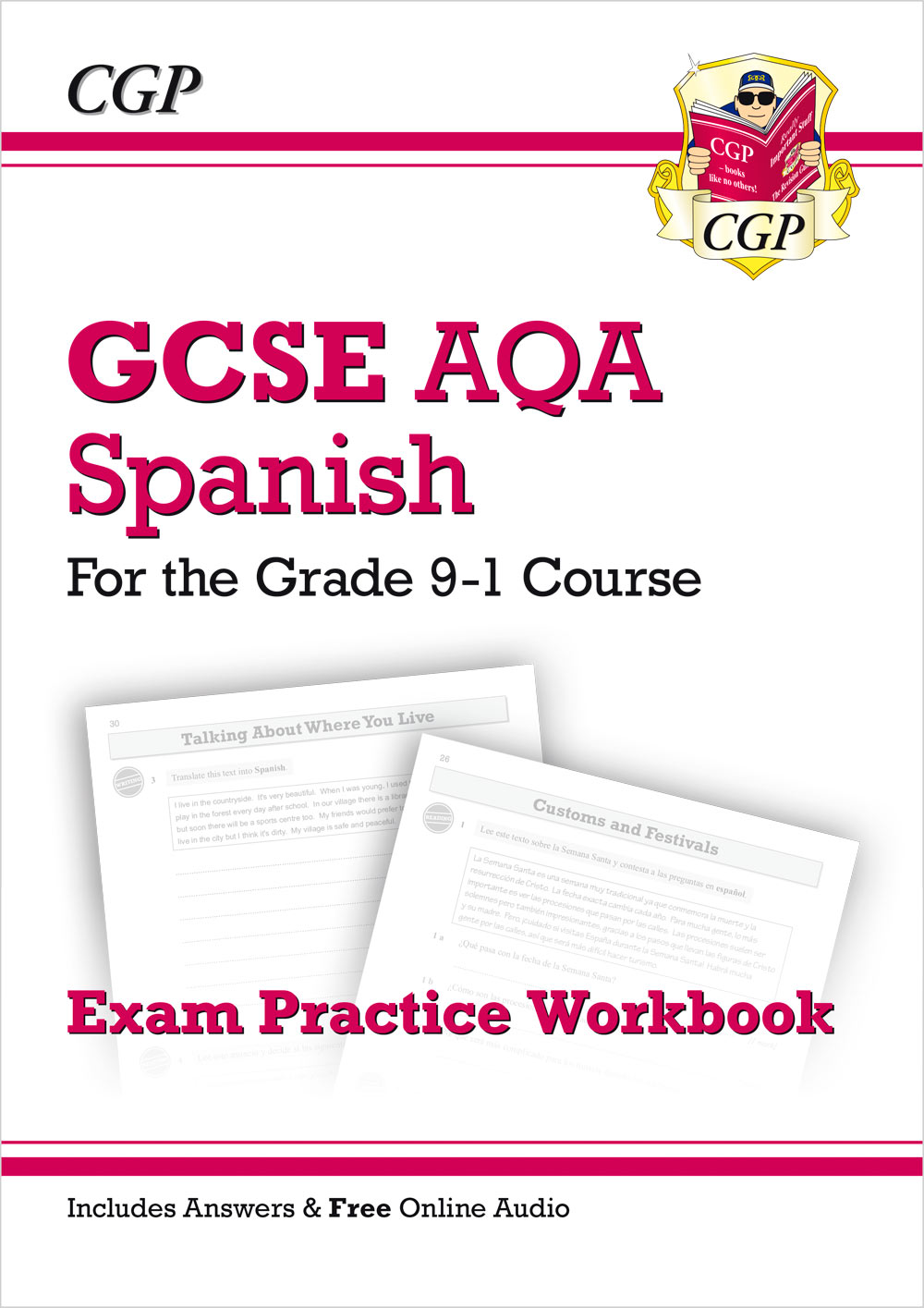 SPAQ41 - New GCSE Spanish AQA Exam Practice Workbook - for the Grade 9-1 Course (includes Answers)