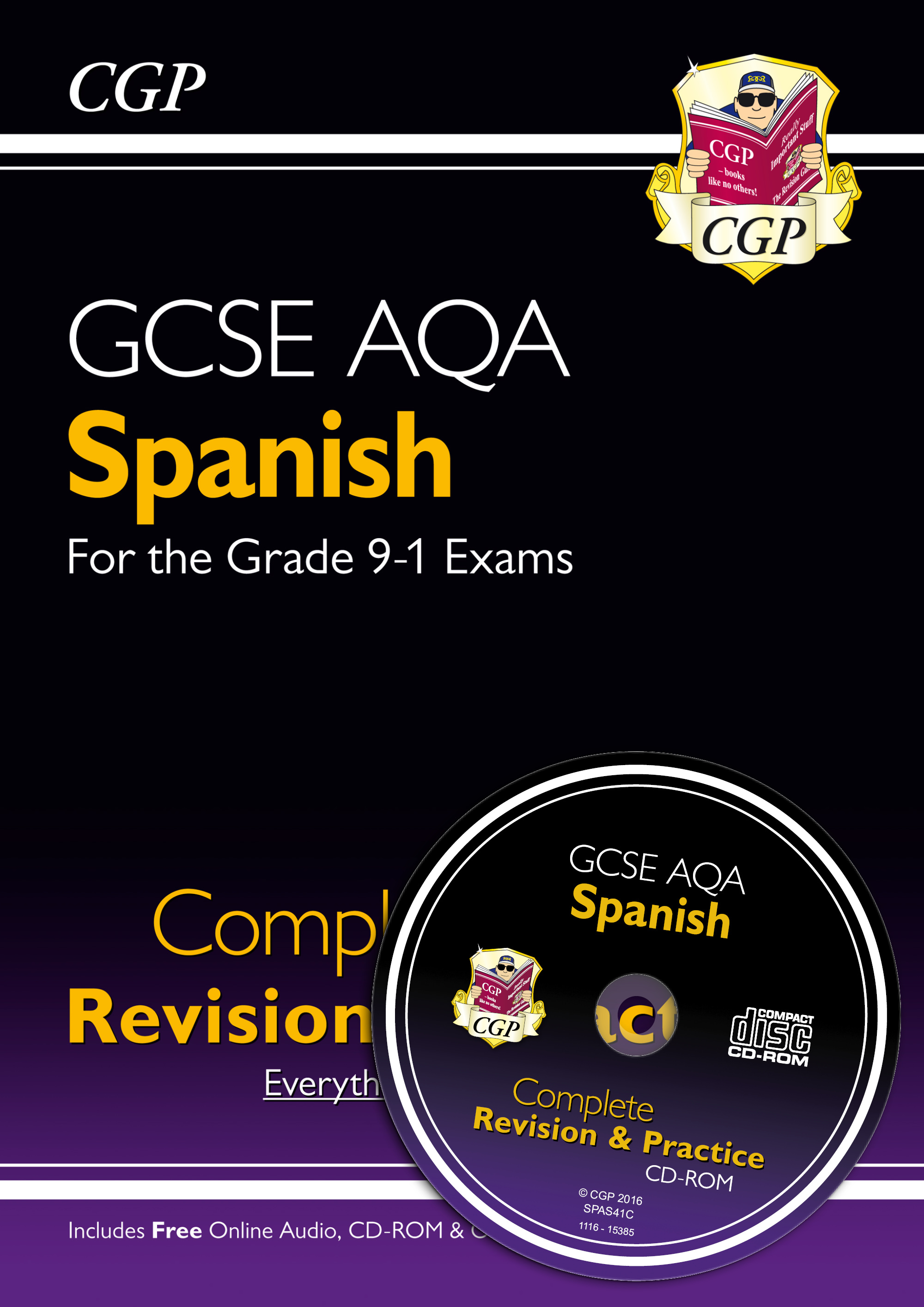 SPAS41 - New GCSE Spanish AQA Complete Revision & Practice (with CD & Online Edition) - Grade 9-1 Co