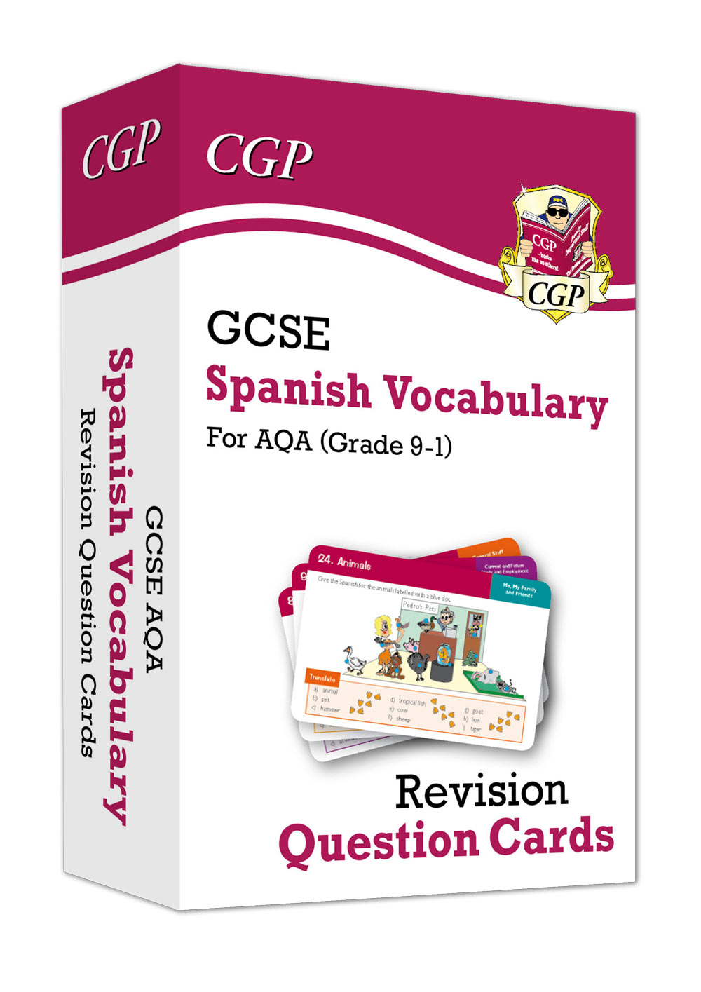 SPAVF41 - New Grade 9-1 GCSE AQA Spanish: Vocabulary Revision Question Cards