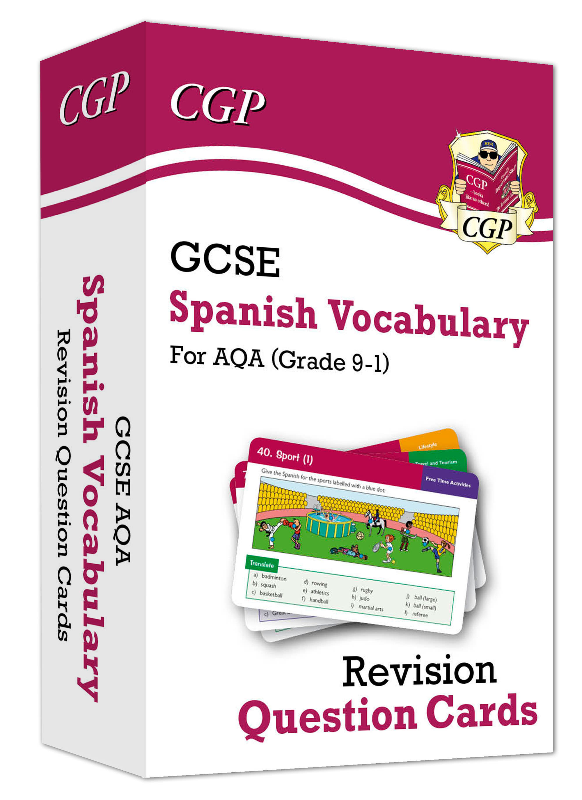 SPAVF41D - New Grade 9-1 GCSE AQA Spanish: Vocabulary Revision Question Cards Online Edition