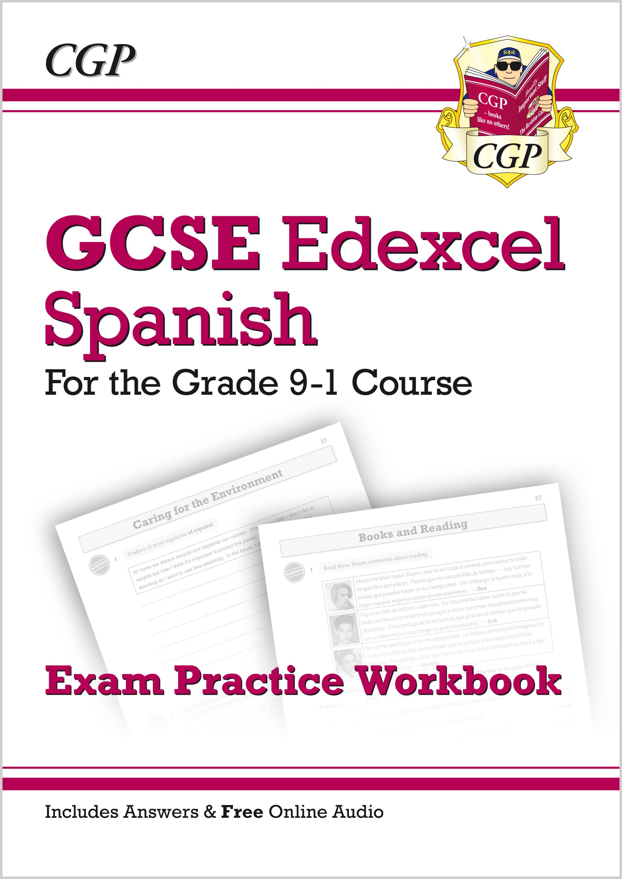 SPEQ41 - New GCSE Spanish Edexcel Exam Practice Workbook - for the Grade 9-1 Course (includes Answer