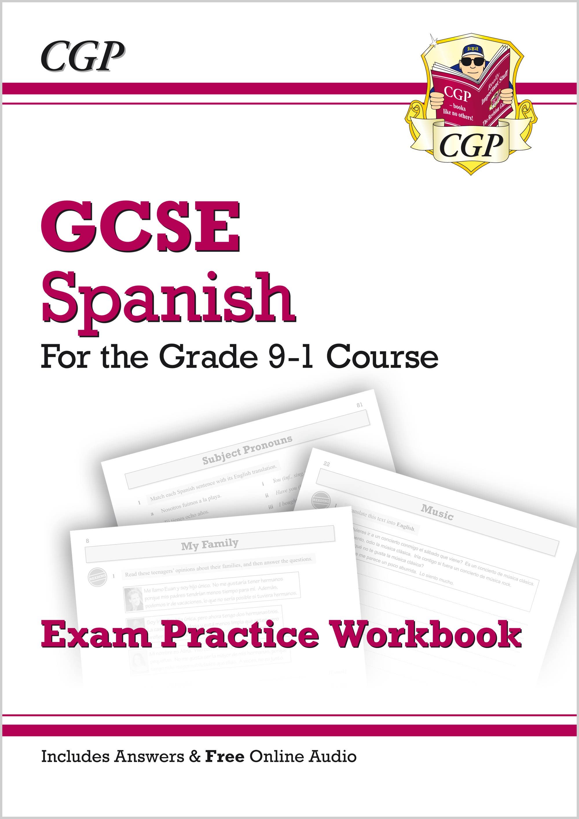 SPHQ41 - GCSE Spanish Exam Practice Workbook - for the Grade 9-1 Course (includes Answers)