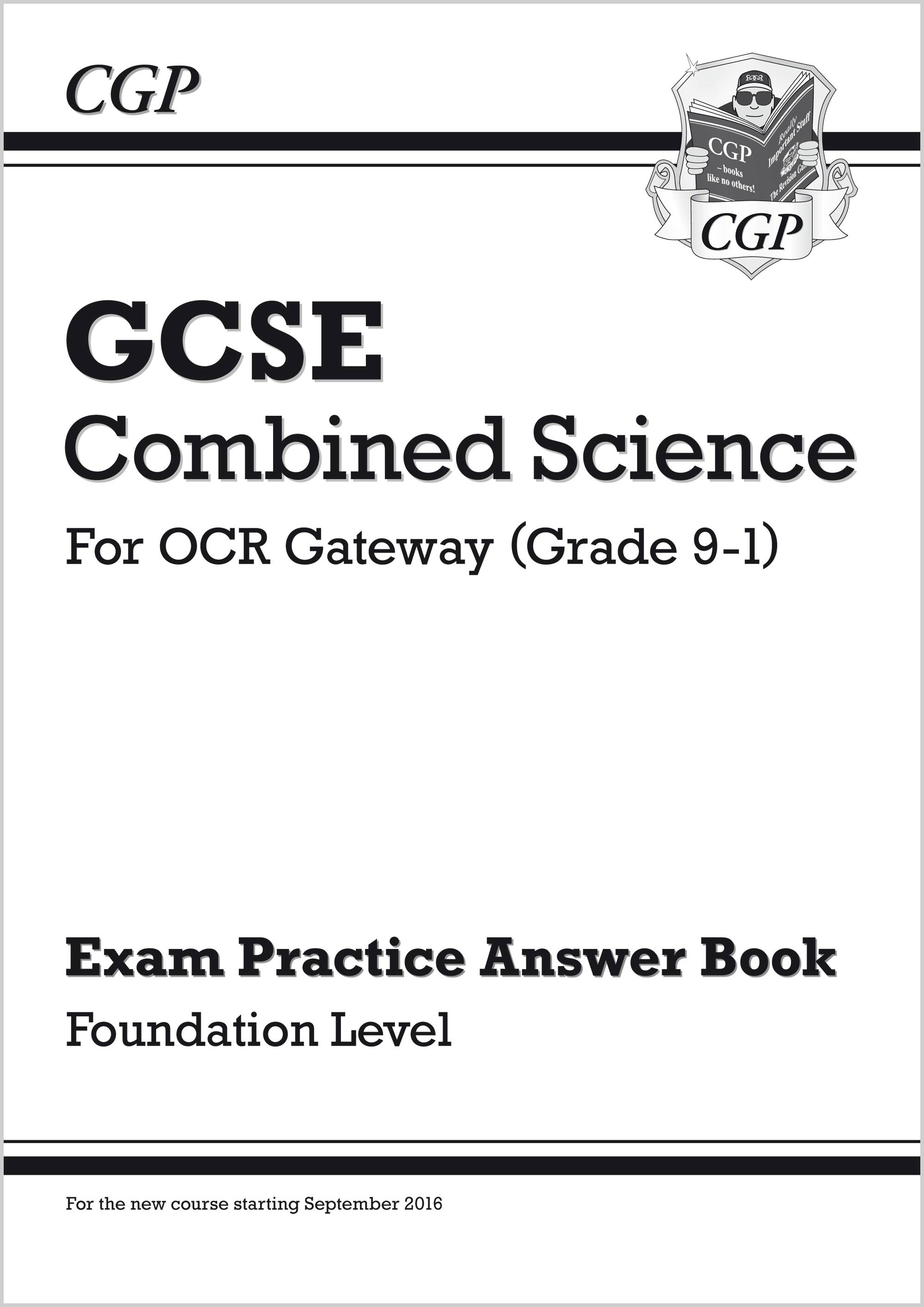 SRFQA41 - GCSE Combined Science: OCR Gateway Answers (for Exam Practice Workbook) - Foundation