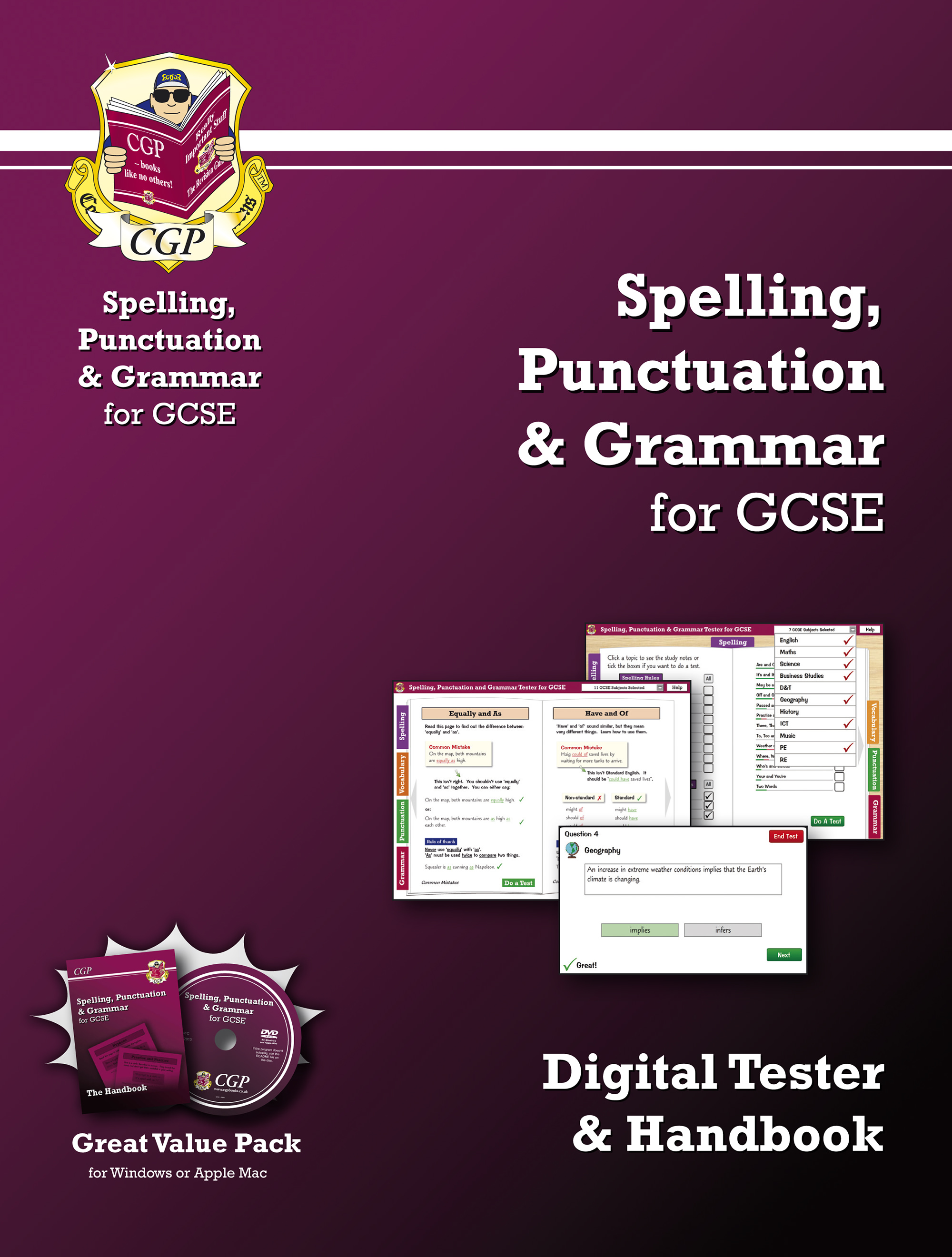 YETI41B - Spelling, Punctuation & Grammar for GCSE - Digital Tester and Handbook
