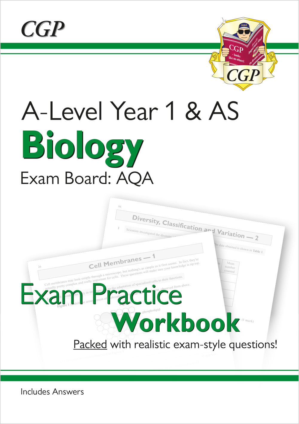 BAQ51 - New A-Level Biology: AQA Year 1 & AS Exam Practice Workbook - includes Answers