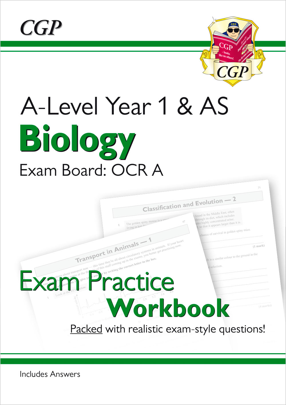 BRAQ51 - New A-Level Biology: OCR A Year 1 & AS Exam Practice Workbook - includes Answers