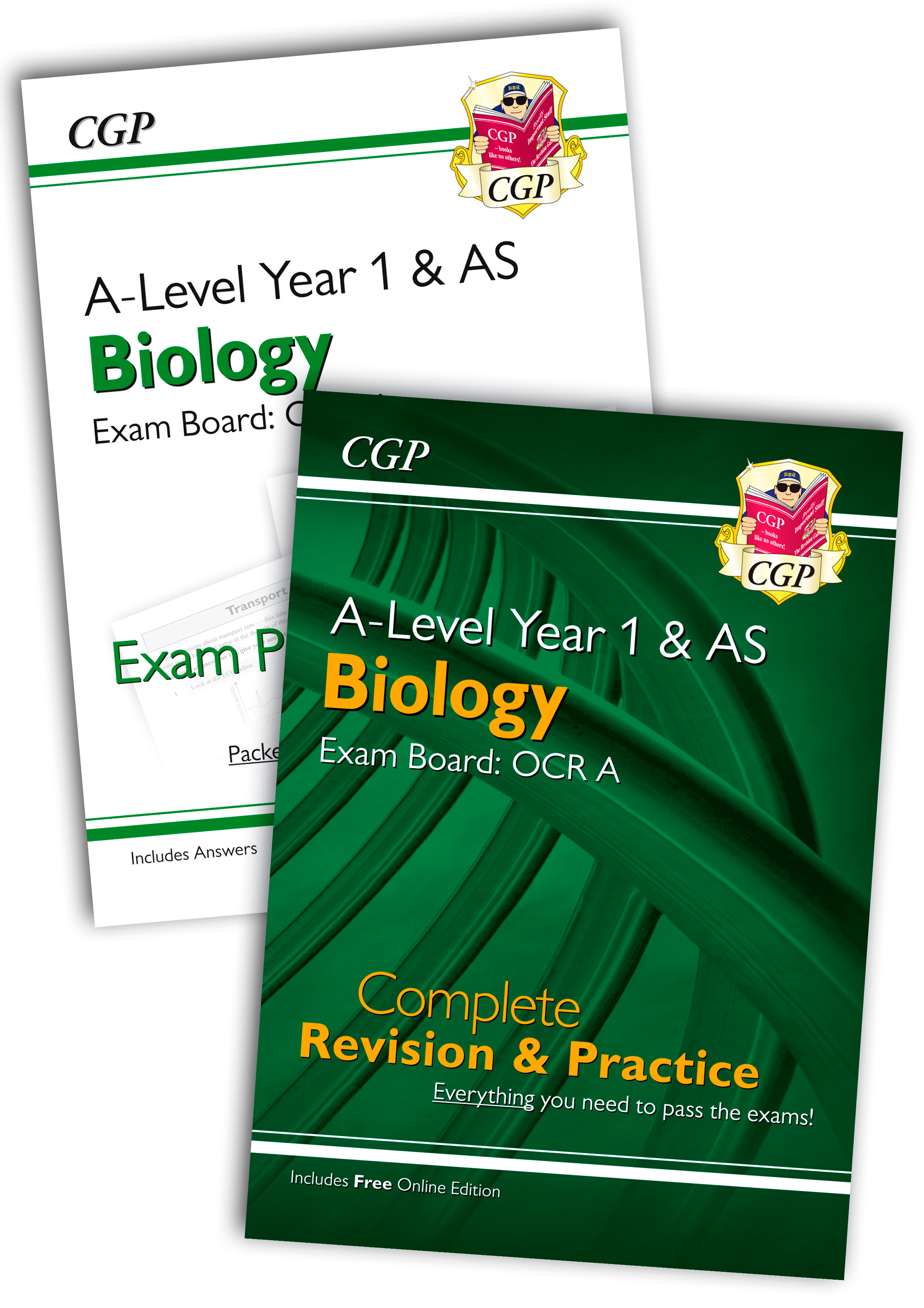 BRARQB51 - New Complete Revision and Exam Practice A-Level Biology Bundle: OCR A Year 1 & AS