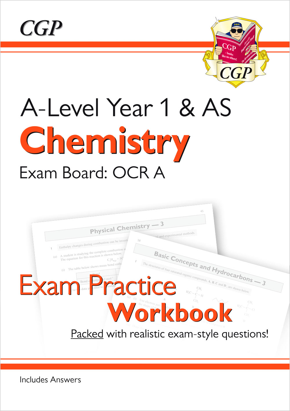 CRAQ51 - A-Level Chemistry: OCR A Year 1 & AS Exam Practice Workbook - includes Answers