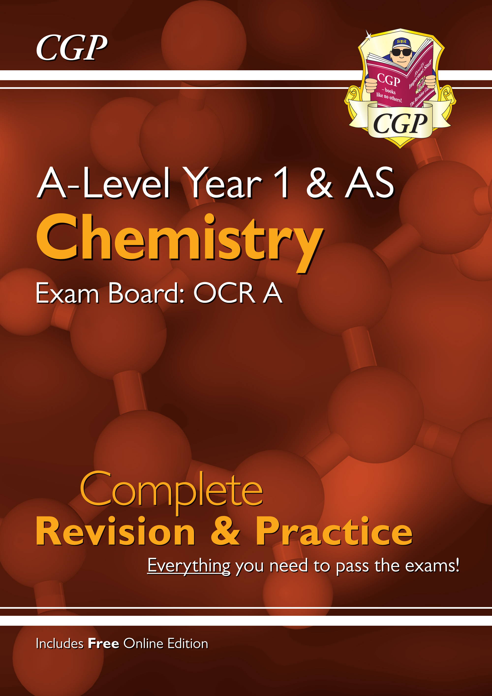 CRAR54 - A-Level Chemistry: OCR A Year 1 & AS Complete Revision & Practice with Online Edition