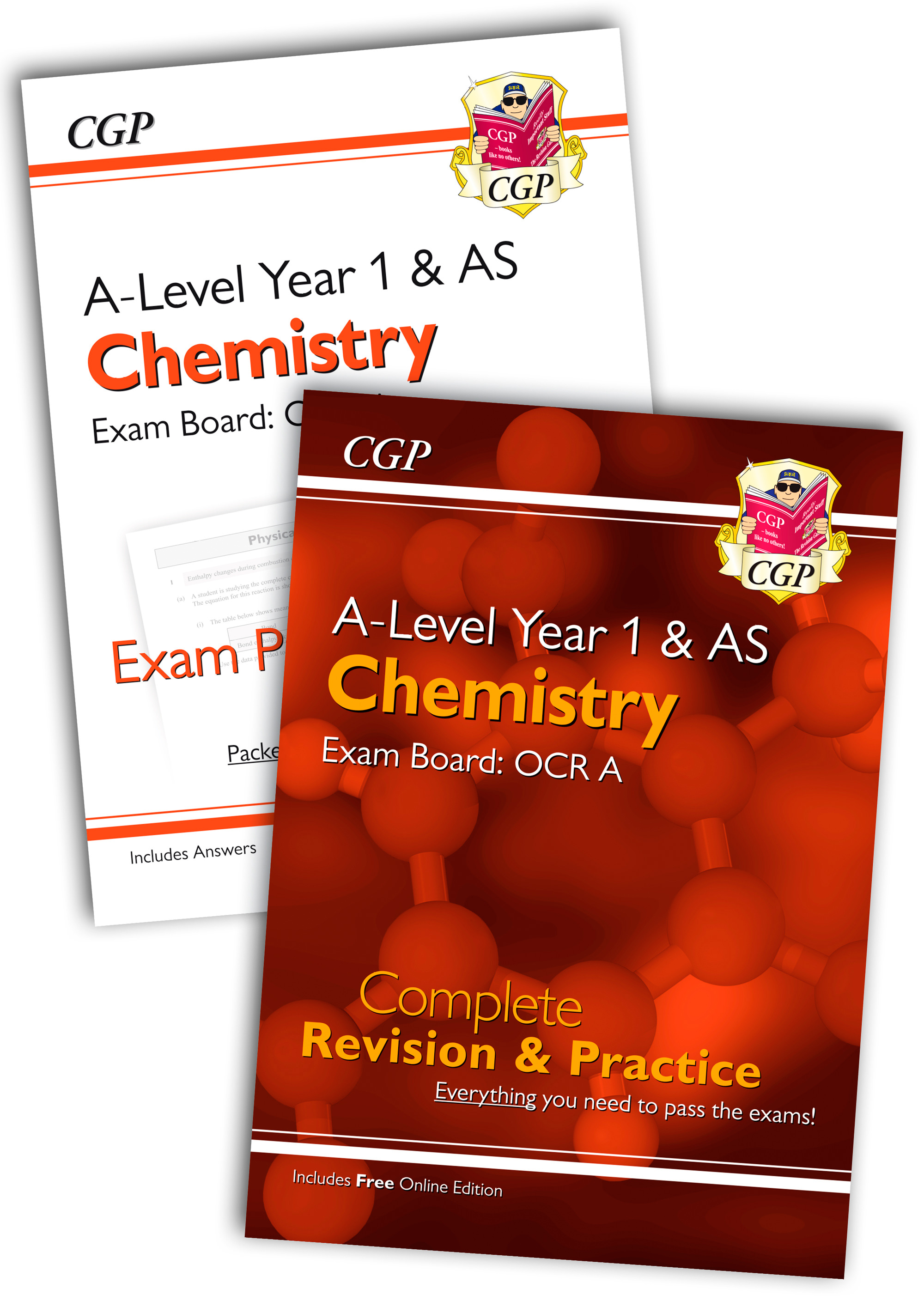 CRARQB51 - New 2018 Complete Revision and Exam Practice A-Level Chemistry Bundle: OCR A Year 1 & AS