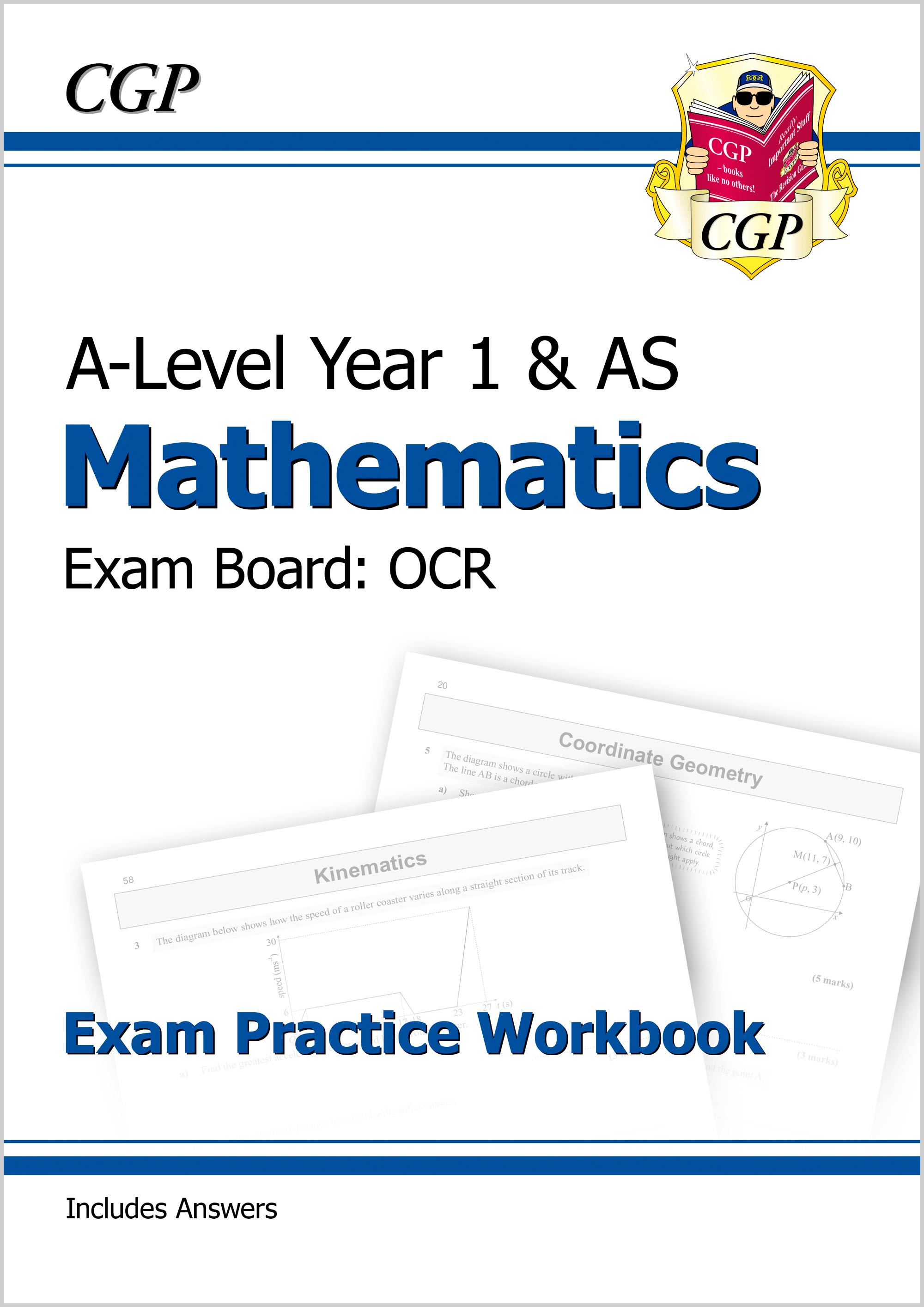 MRQ51DK - New A-Level Maths for OCR: Year 1 & AS Exam Practice Workbook