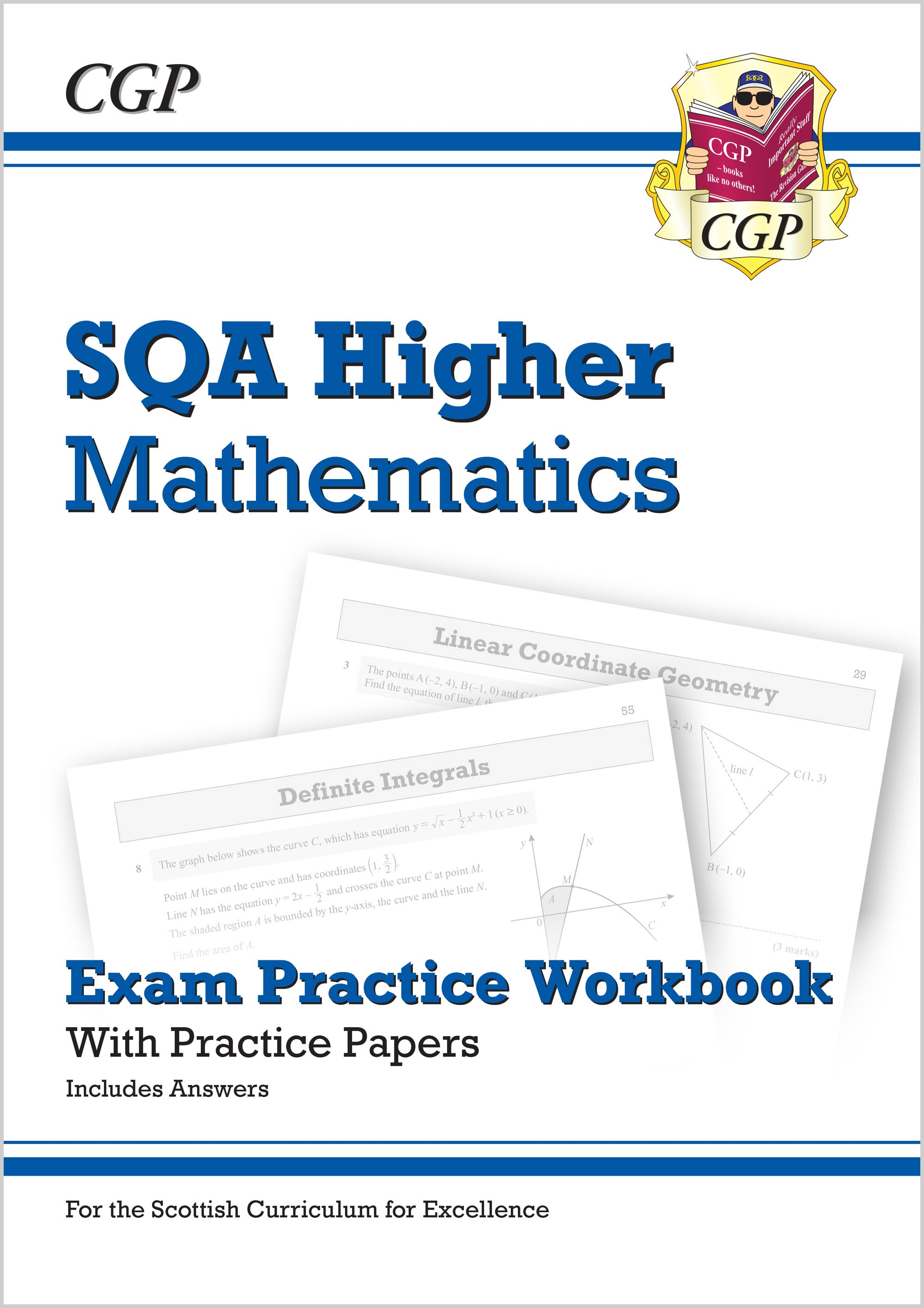 MZQ51 - CfE Higher Maths: SQA Exam Practice Workbook - includes Answers