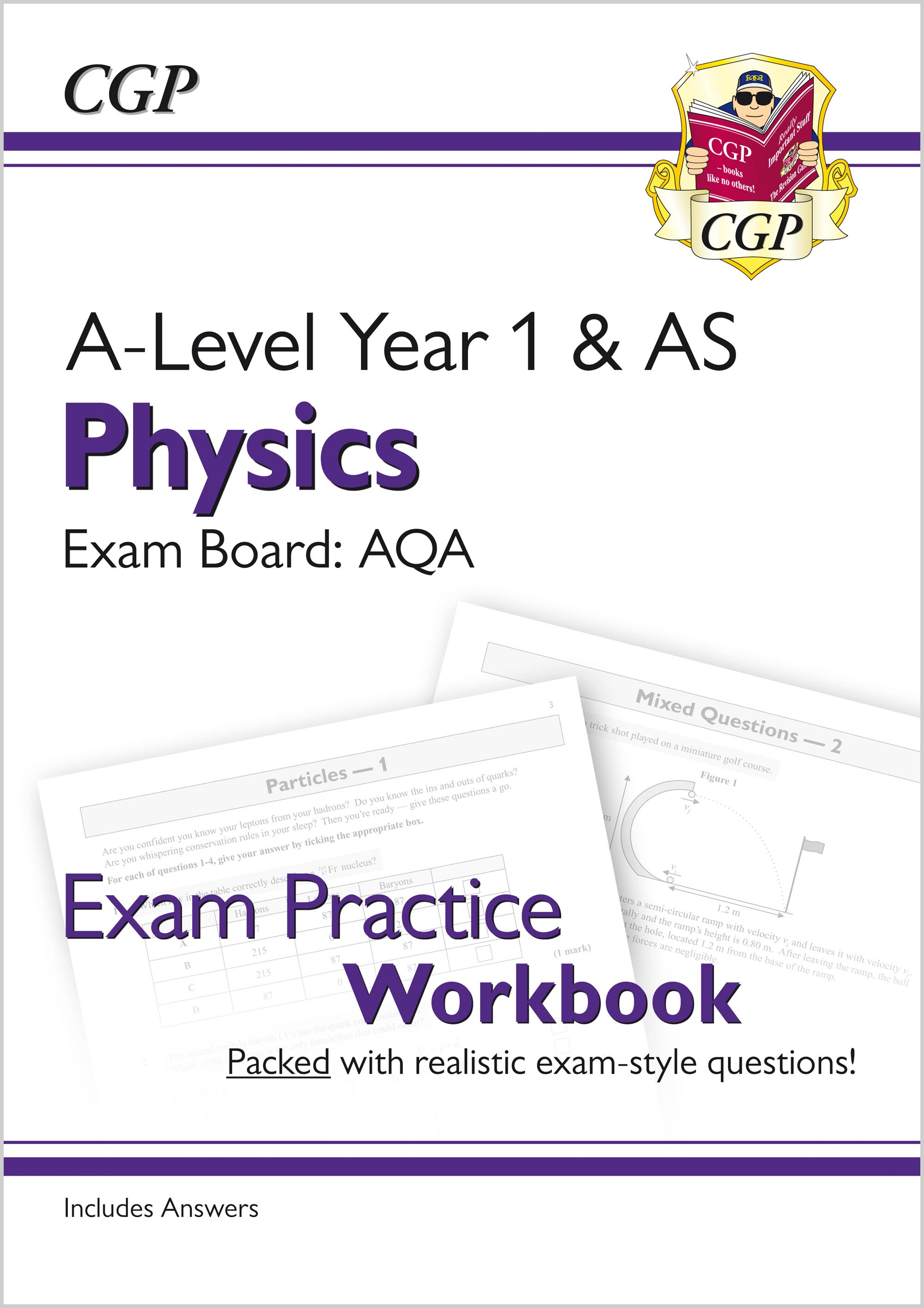 PAQ51 - A-Level Physics: AQA Year 1 & AS Exam Practice Workbook - includes Answers