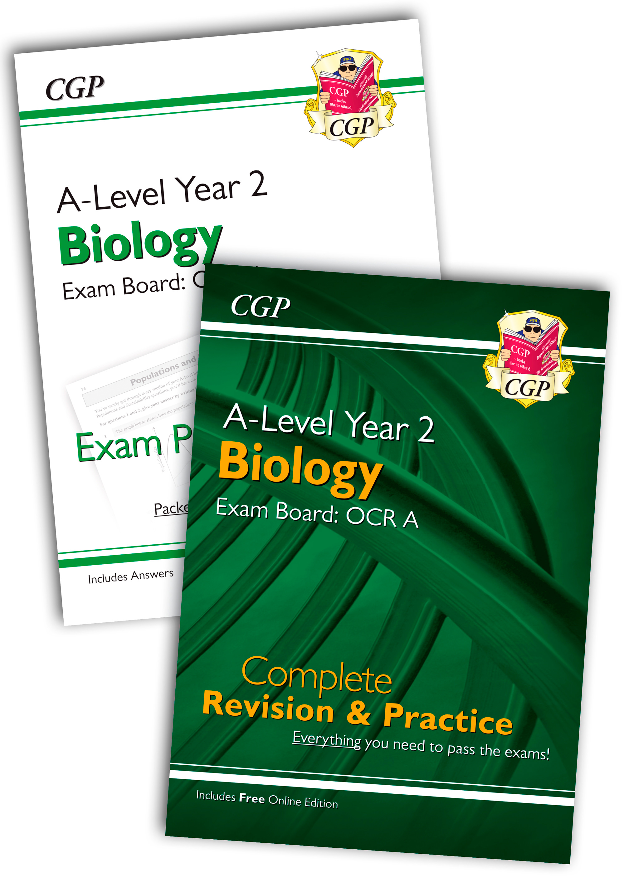 BRARQB61 - New Complete Revision and Exam Practice A-Level Biology Bundle: OCR A Year 2