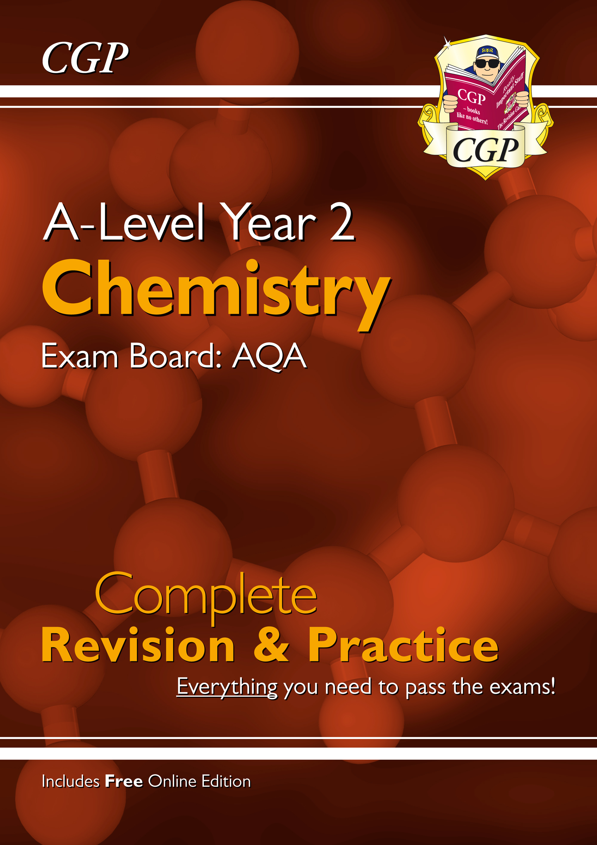 CAR63 - A-Level Chemistry: AQA Year 2 Complete Revision & Practice with Online Edition