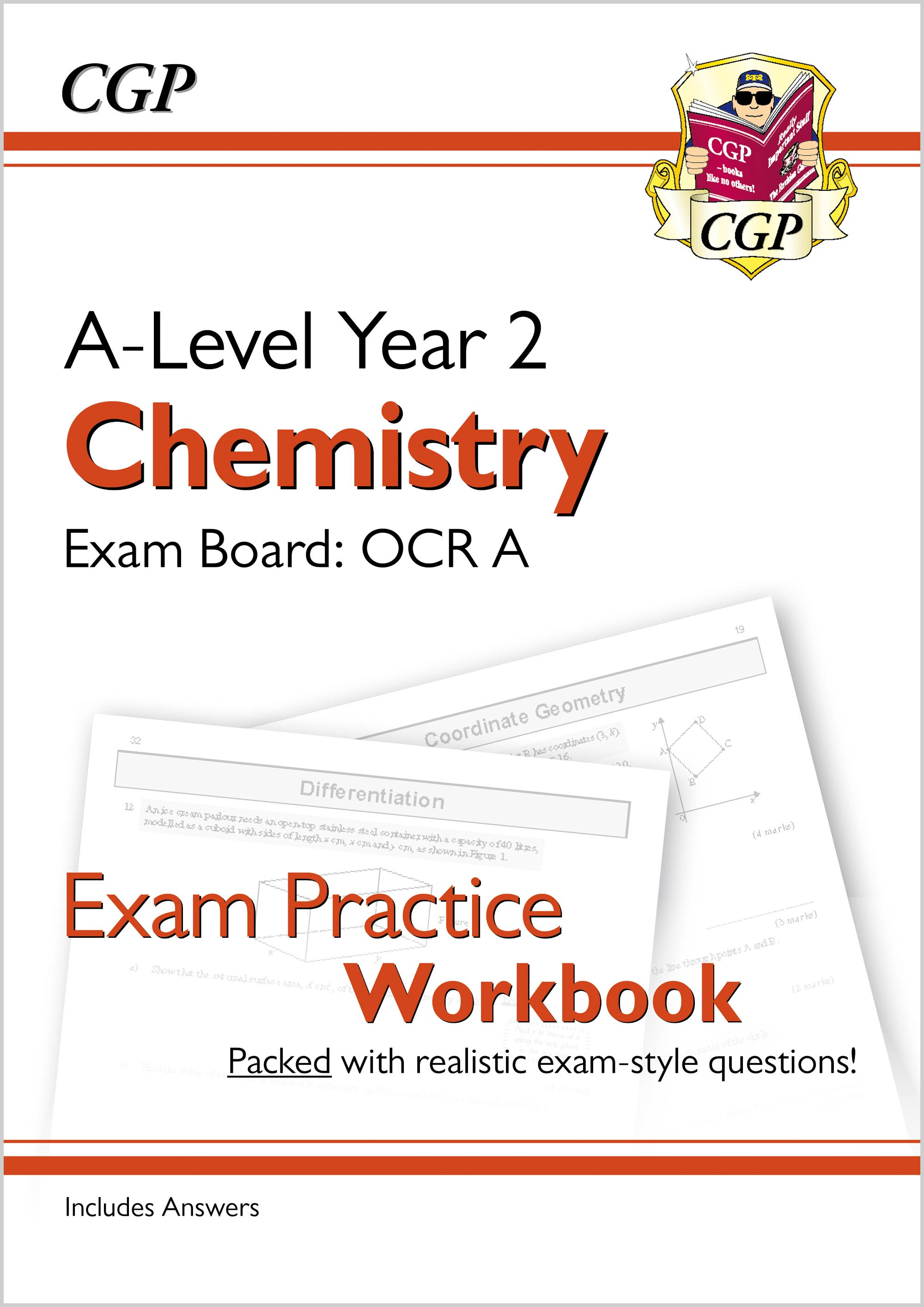 CRAQ61 - A-Level Chemistry: OCR A Year 2 Exam Practice Workbook - includes Answers