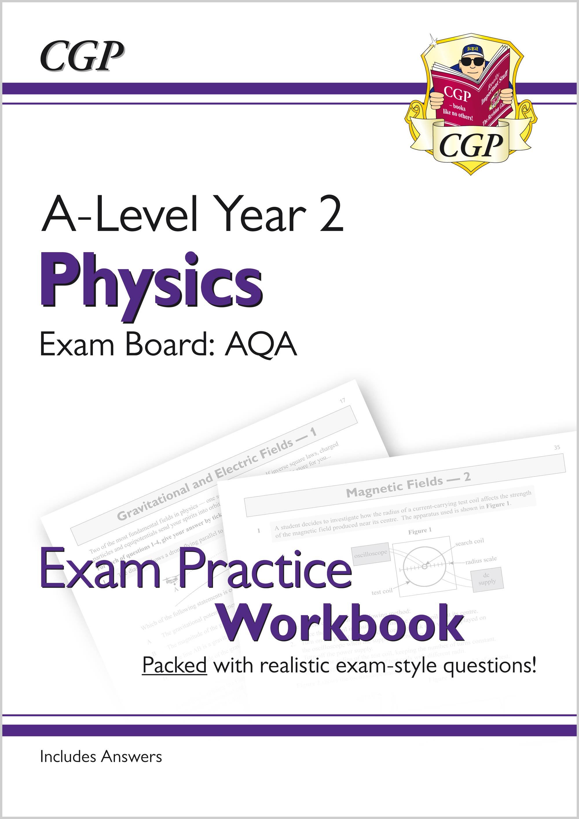 PAQ61 - New A-Level Physics for 2018: AQA Year 2 Exam Practice Workbook - includes Answers