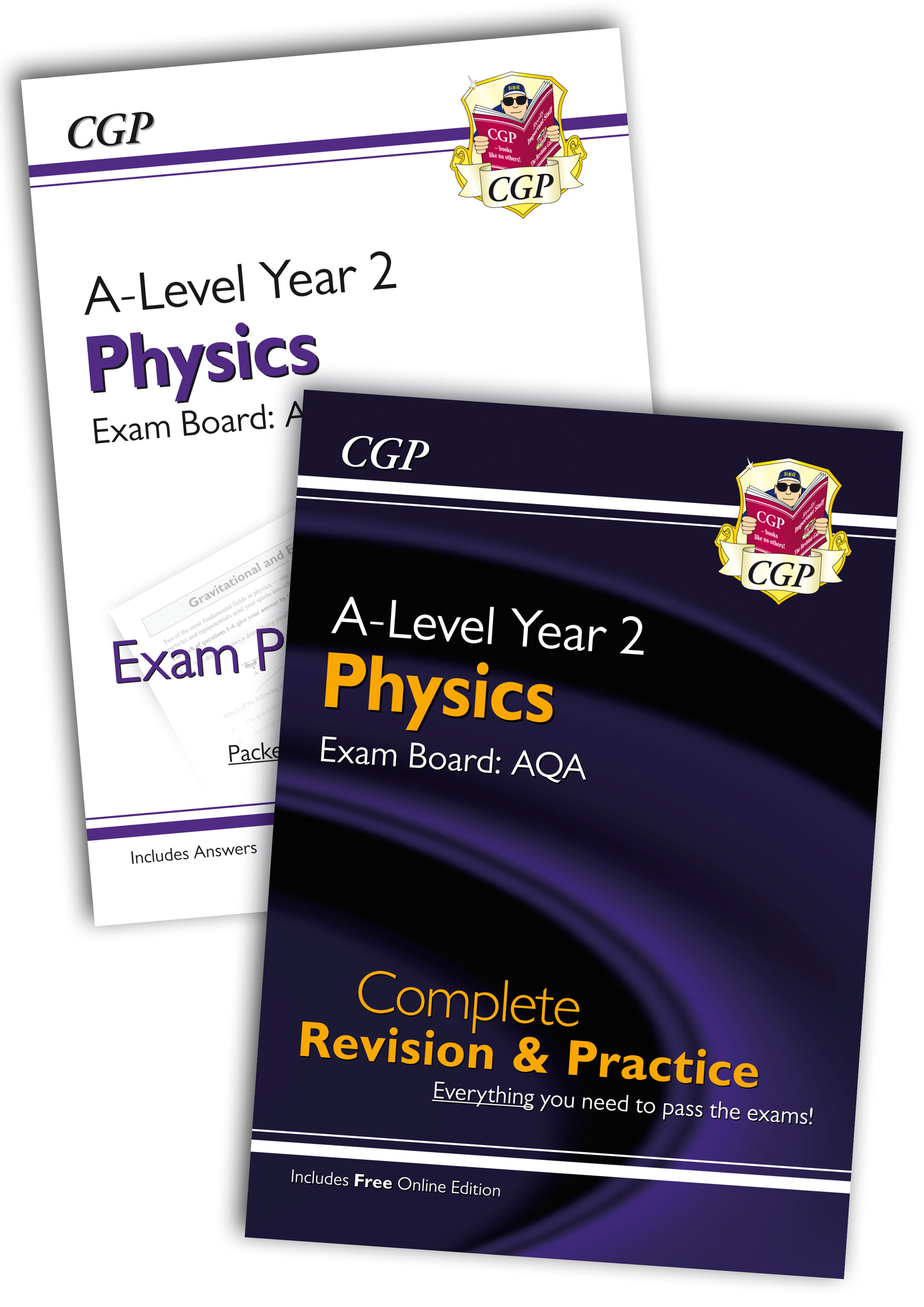 PARQB61 - New Complete Revision and Exam Practice A-Level Physics Bundle: AQA Year 2
